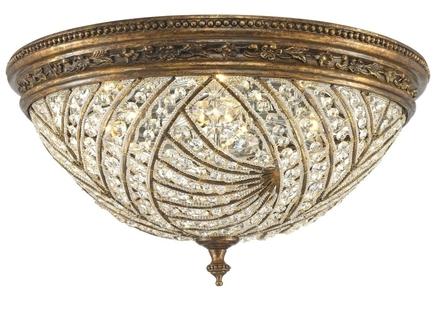 Потолочный светильник (wertmark) золотой 25.0 см.