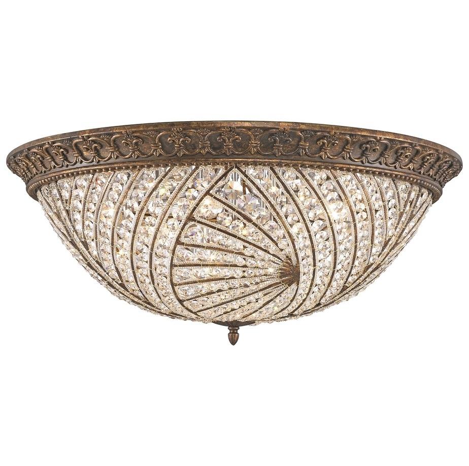 Потолочный светильникПотолочные светильники<br>Материал: металл+хрусталь K9<br>Лампочки: 10*40W <br>Цоколь: E14<br>Цвет: испанская бронза<br><br>Material: Металл<br>Высота см: 32