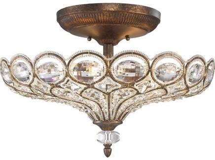 Потолочный светильник (wertmark) бронзовый 33.5 см.