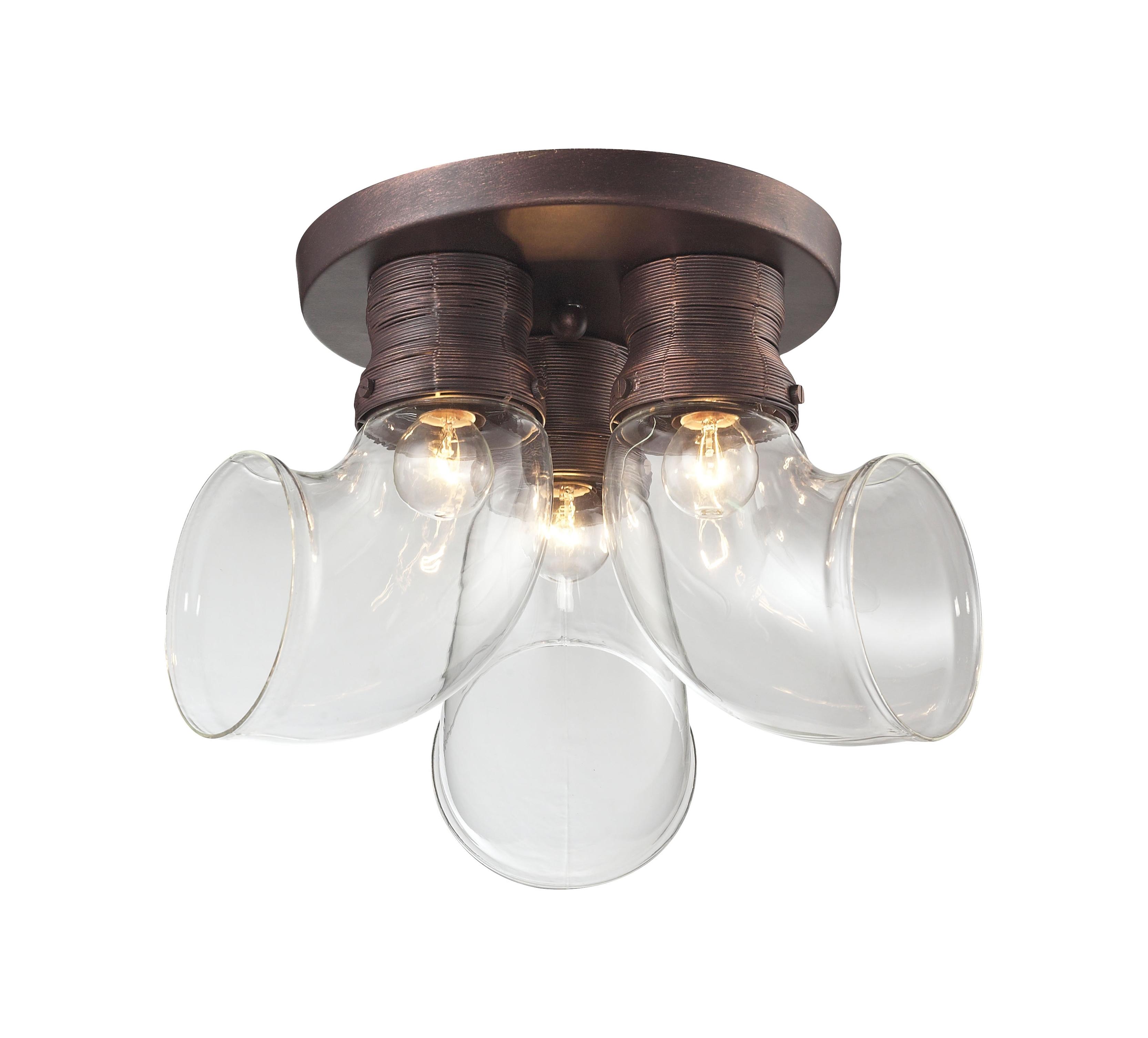 Потолочный светильникПотолочные светильники<br>Материал: металл<br>Лампа: 3*40W<br>Цоколь: E14<br>Цвет: венге<br><br>Material: Металл<br>Высота см: 25