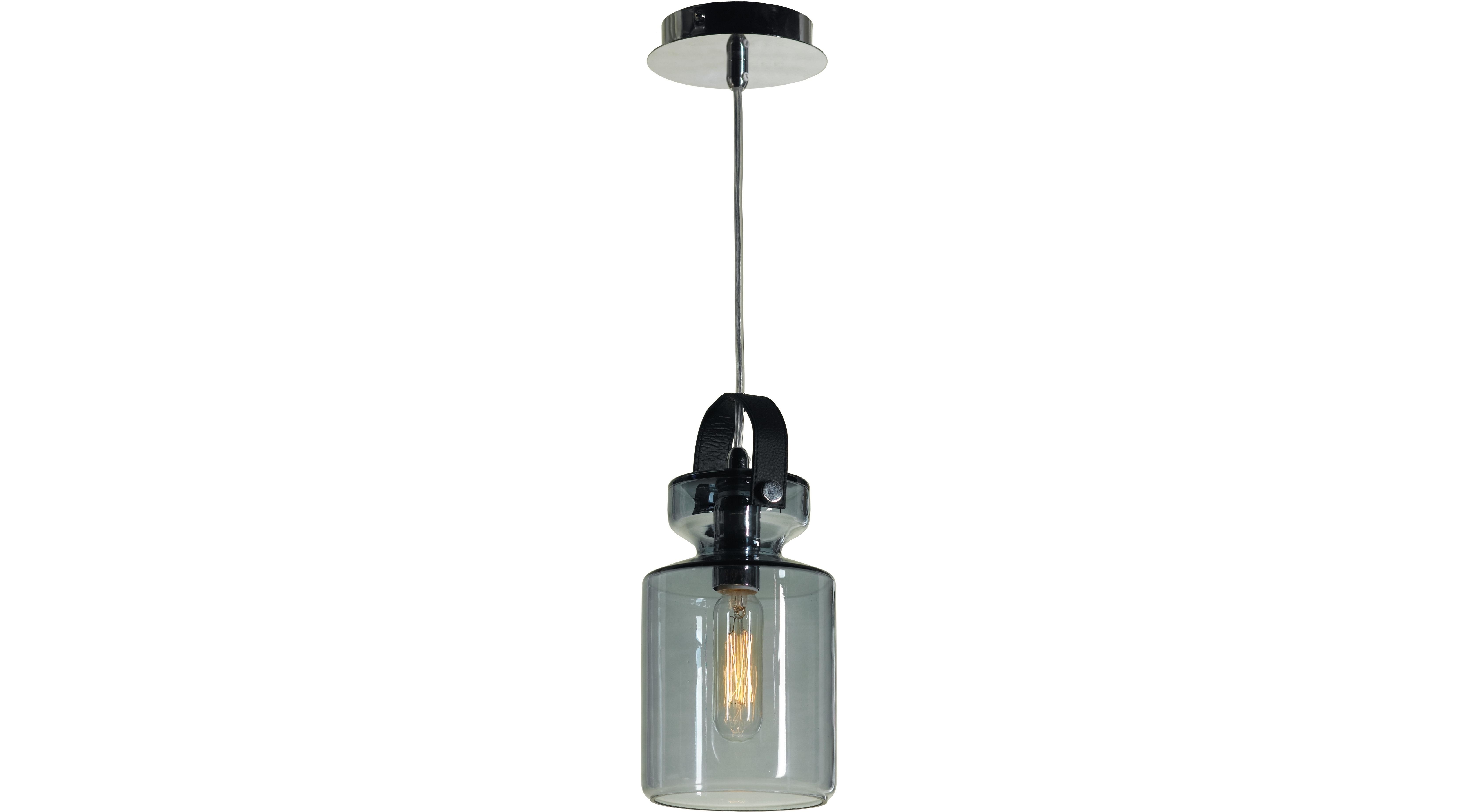 Подвесной светильникПодвесные светильники<br>Материал: металл<br>Лампа: 1*40W<br>Цоколь: E14<br>Цвет: хром, голубое стекло<br><br>Material: Металл<br>Высота см: 140