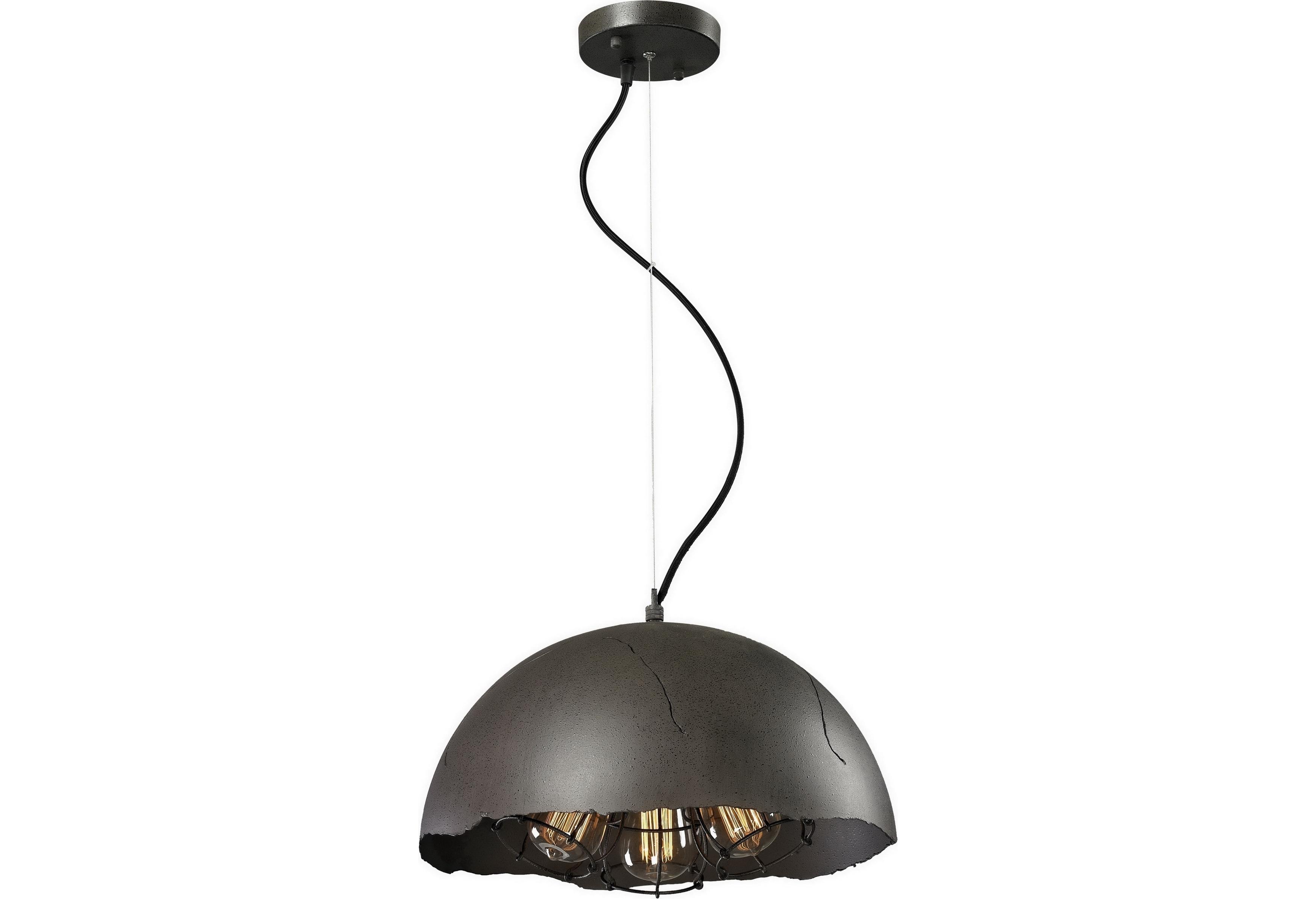 Подвесной светильникПодвесные светильники<br>Материал: металл<br>Лампочки в комплекте: 3*60W<br>Цоколь: E27<br>Цвет: черный<br><br>Material: Металл<br>Height см: 120<br>Diameter см: 40