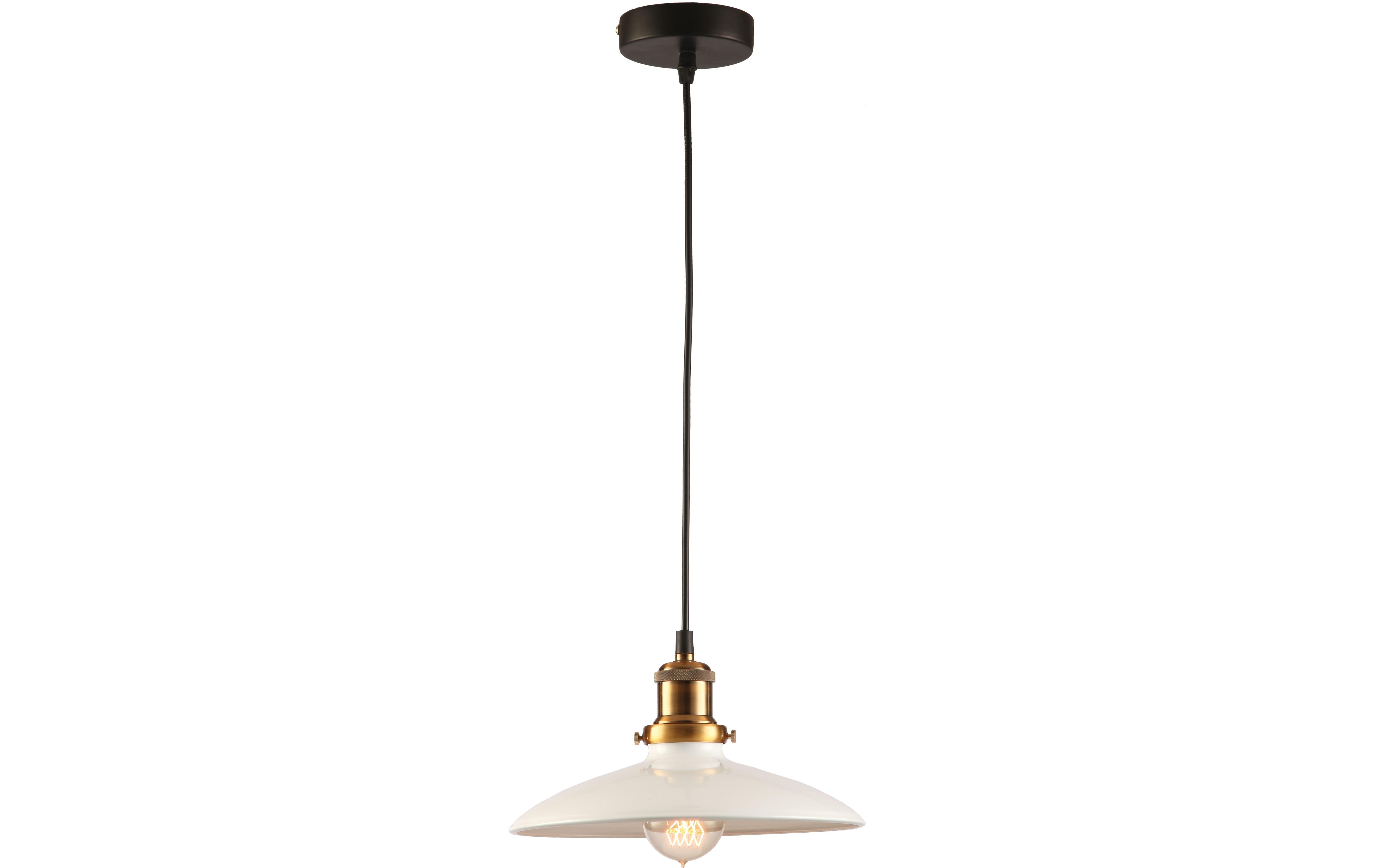 Подвесной светильникПодвесные светильники<br>Материал: металл<br>Лампочки в комплекте: 1*60W<br>Цоколь: E27<br>Цвет: белый, золото, черный<br><br>Material: Металл<br>Height см: 120<br>Diameter см: 25