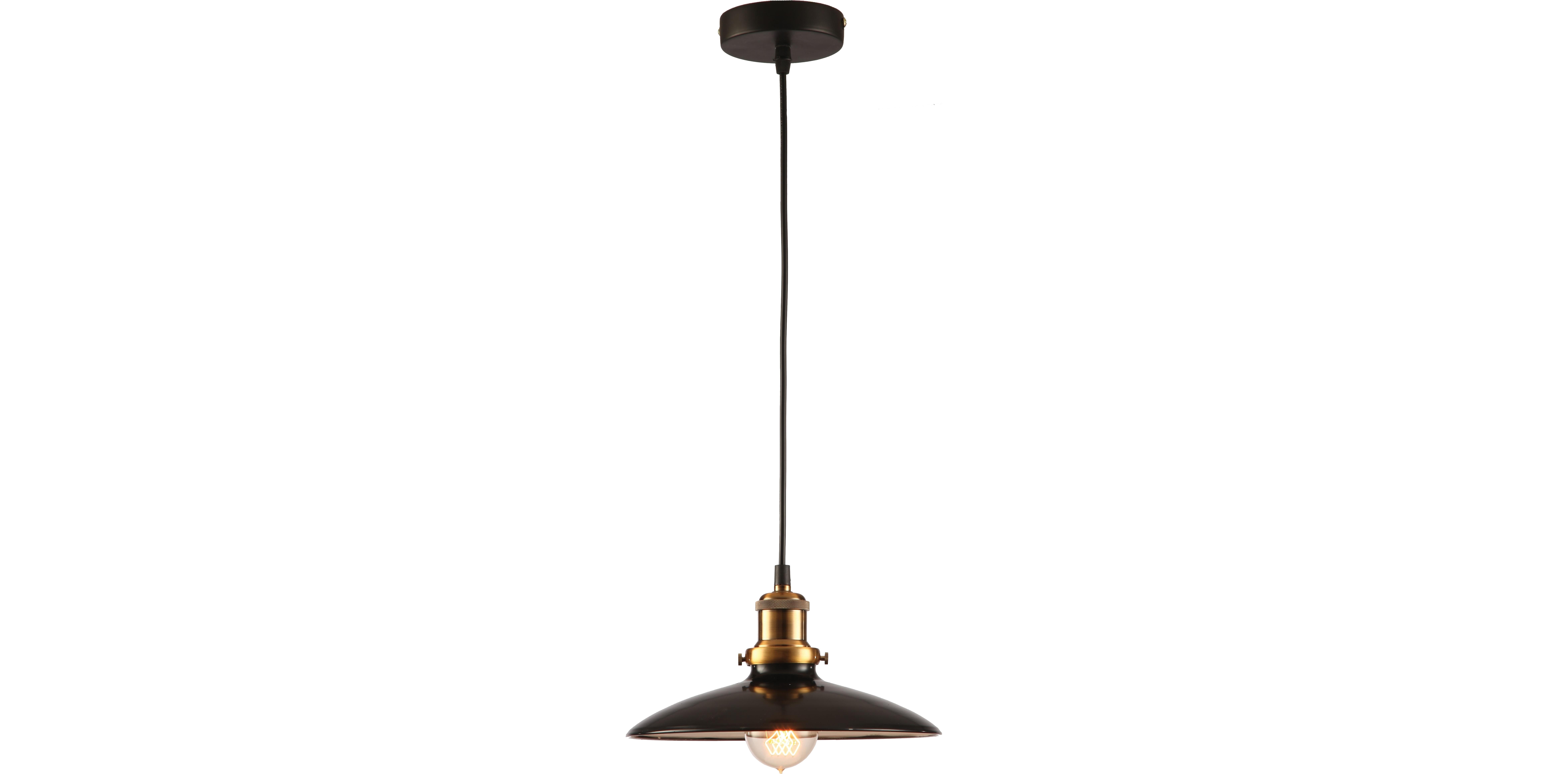 Подвесной светильникПодвесные светильники<br>Материал: металл<br>Лампочки в комплекте: 1*60W<br>Цоколь: E27<br>Цвет: золото, черный<br><br>Material: Металл<br>Length см: None<br>Width см: 25<br>Height см: 120<br>Diameter см: 25