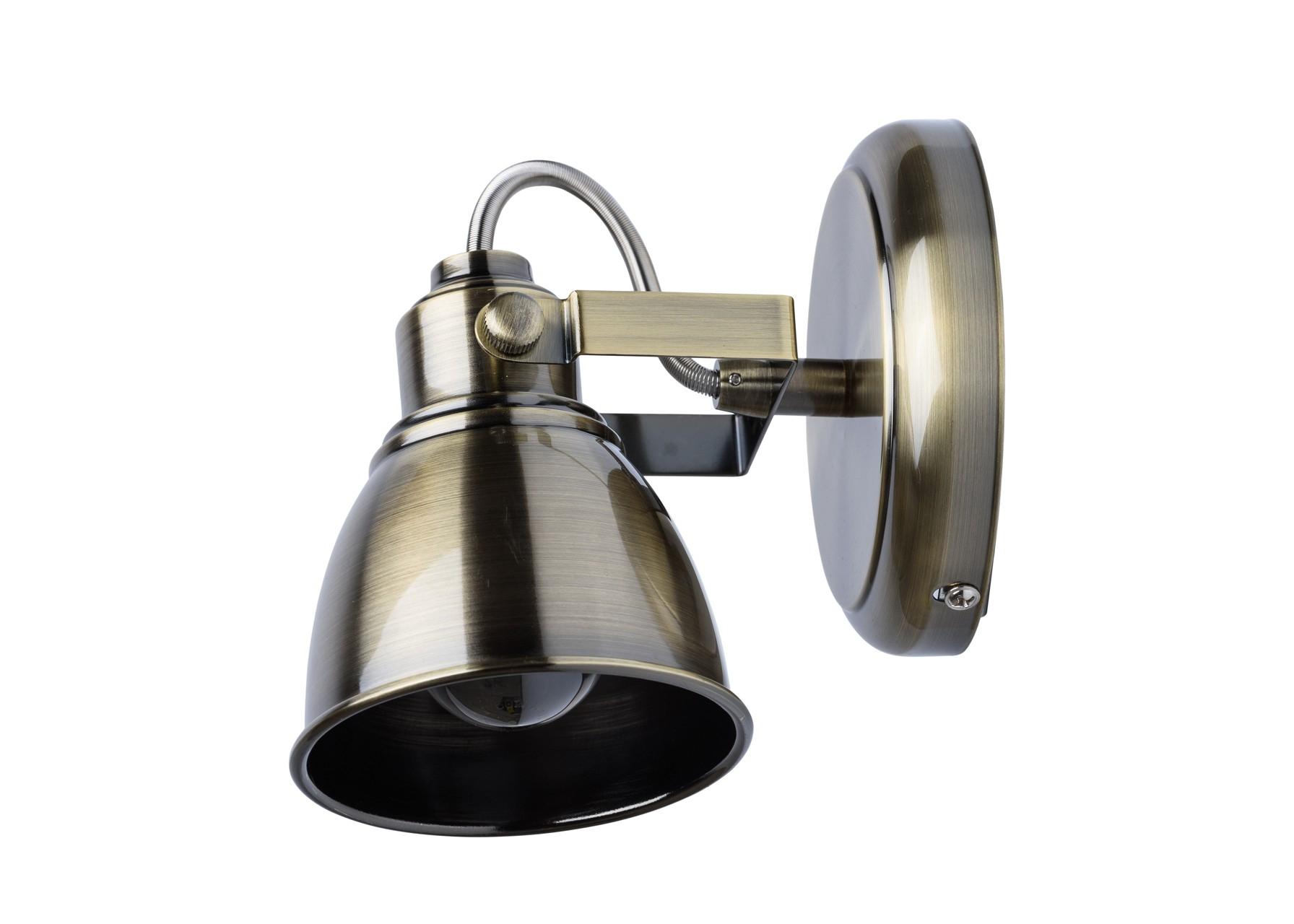 БраБра<br>&amp;lt;div&amp;gt;Стильный &amp;amp;nbsp;дизайн светильников-спотов из коллекции «Ринген» сейчас в тренде. &amp;amp;nbsp;Гальванизированное &amp;amp;nbsp;в цвет античной бронзы основание, подчеркнуто строгими, округлой формы плафонами. &amp;amp;nbsp;В тандеме они создают продуманную и гармоничную композицию. К числу достоинств светильника относится возможность менять направление света на своё усмотрение, создавая необходимую атмосферу в комнате. Данная модель &amp;amp;nbsp;идеально подойдет для зональной подсветки. Рекомендуемая площадь освещения порядка 6 кв.м.&amp;lt;/div&amp;gt;&amp;lt;div&amp;gt;Металлическое основание и плафон цвета античной бронзы.&amp;lt;/div&amp;gt;&amp;lt;div&amp;gt;1*40W E14 220 V IP20&amp;lt;/div&amp;gt;&amp;lt;div&amp;gt;&amp;lt;br&amp;gt;&amp;lt;/div&amp;gt;<br><br>Material: Металл<br>Ширина см: 10<br>Высота см: 18