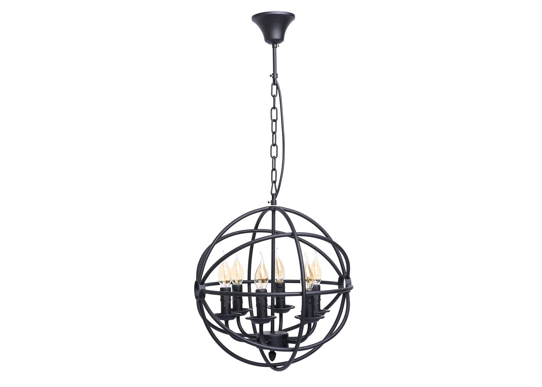 ЛюстраЛюстры подвесные<br>&amp;lt;div&amp;gt;Любителям оригинальных решений в интерьере идеально подойдет люстра из коллекции «Замок». &amp;amp;nbsp;Она привлекает своим необычным исполнением: матовое металлическое основание чёрного цвета закручено в &amp;amp;nbsp;виде сфер, при включенном свете оно подсвечивается, создавая мистическое сияние и тени. Источник света – свечи с эффектом тающего воска, оригинально выделяющие кольца &amp;amp;nbsp;в вечернем освещении. Трендовый дизайн подчеркнуто брутален. Рекомендуемая площадь освещения порядка 18 кв.м.&amp;lt;/div&amp;gt;&amp;lt;div&amp;gt;Арматура выполнена из сплава металла и окрашена в черный цвет. Декоративные напатронники также окрашены в черный цвет и имитируют оплавленную свечу. Оригинальным декоративным приемом является переплетение сферических окружностей, также выполненных из сплава металла и окрашенных в черный цвет.&amp;lt;/div&amp;gt;&amp;lt;div&amp;gt;&amp;lt;br&amp;gt;&amp;lt;/div&amp;gt;&amp;lt;div&amp;gt;Вид цоколя: E14&amp;lt;/div&amp;gt;&amp;lt;div&amp;gt;Мощность: &amp;amp;nbsp;60W&amp;amp;nbsp;&amp;lt;/div&amp;gt;&amp;lt;div&amp;gt;Количество ламп: 6 (нет в комплекте)&amp;lt;/div&amp;gt;<br><br>Material: Металл<br>Height см: 90<br>Diameter см: 40
