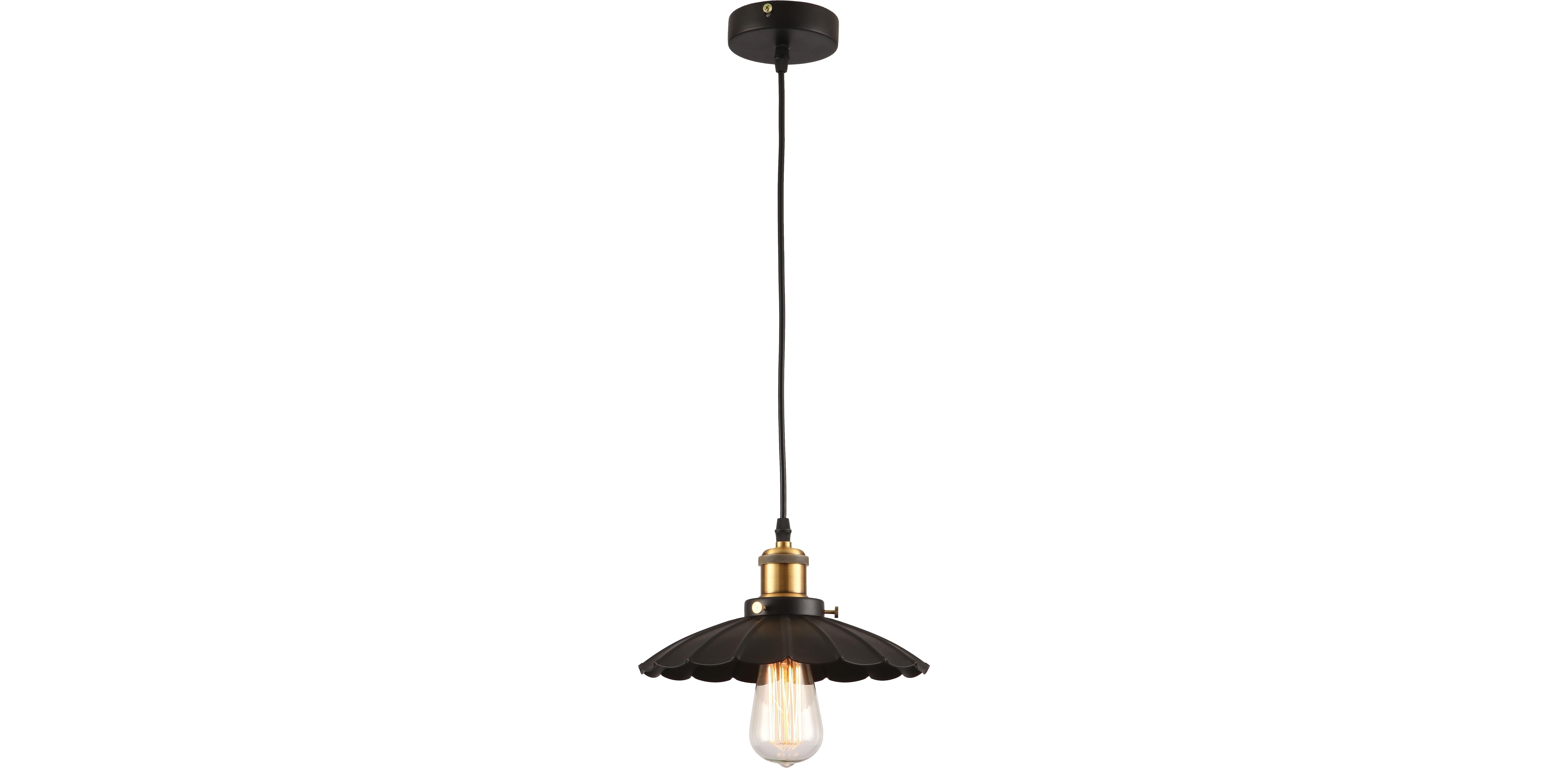 Подвесной светильникПодвесные светильники<br>Материал: металл<br>Лампочки в комплекте: 1*60W<br>Цоколь: E27<br>Цвет: золото, черный<br><br>Material: Металл<br>Высота см: 120