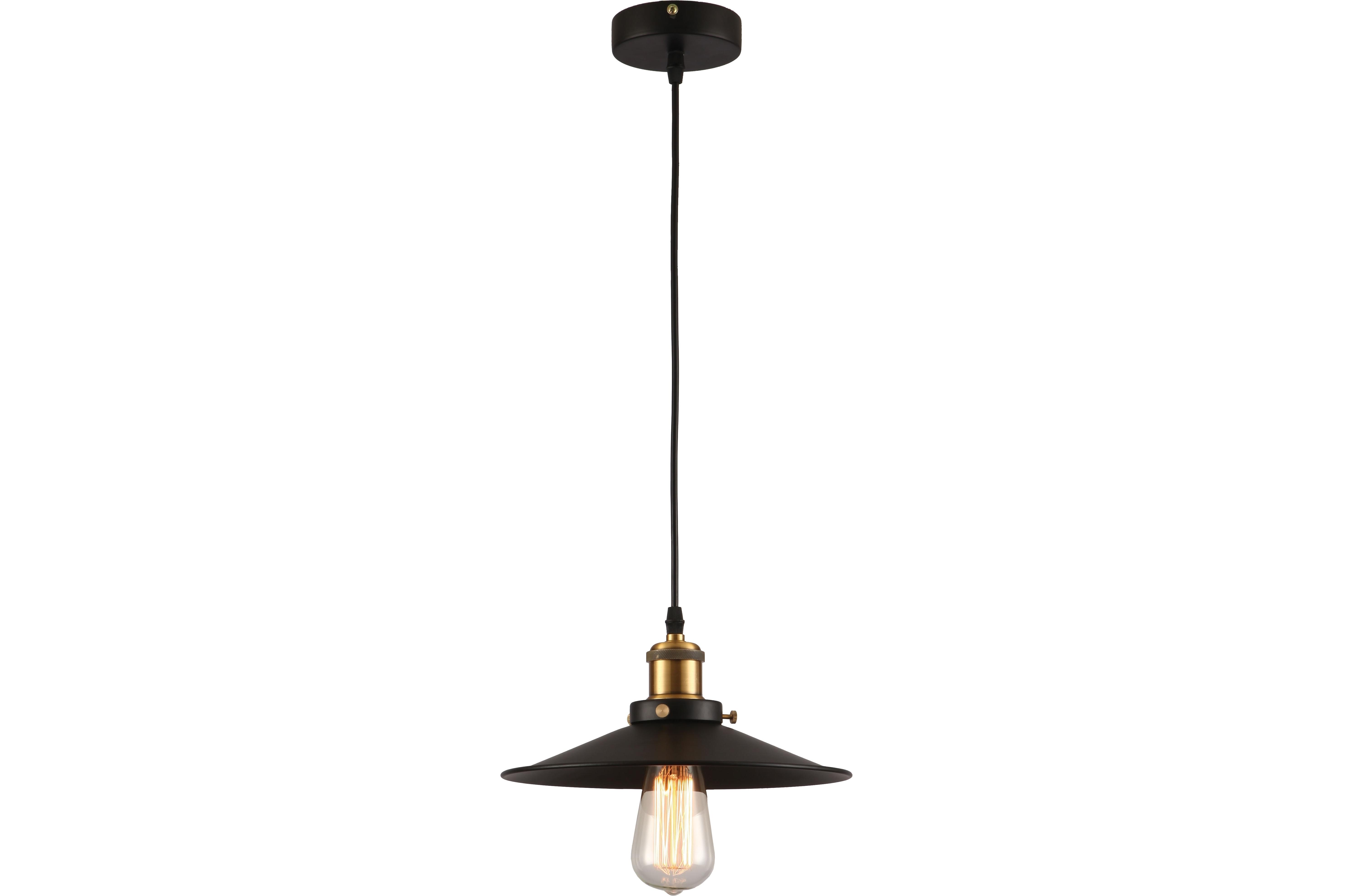 Подвесной светильникПодвесные светильники<br>Материал: металл<br>Лампочки в комплекте: 1*60W<br>Цоколь: E27<br>Цвет: золото, черный<br><br>Material: Металл<br>Height см: 120<br>Diameter см: 22