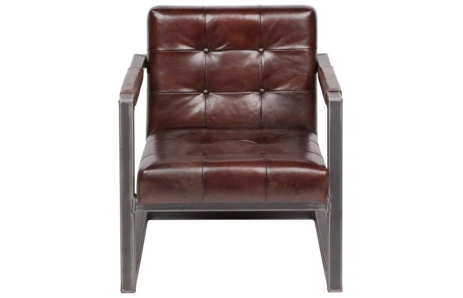 Стул с подлокотниками Jenson ClubИнтерьерные кресла<br><br><br>Material: Кожа<br>Width см: 62<br>Depth см: 75<br>Height см: 75