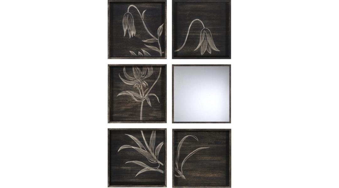 ЗеркалоНастенные зеркала<br><br><br>Material: Дерево<br>Width см: 80<br>Depth см: 6<br>Height см: 120