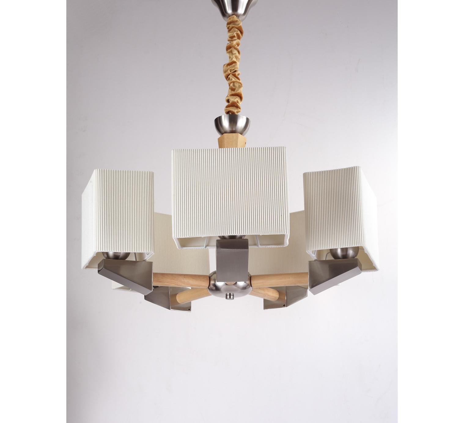 Люстра NaturaЛюстры подвесные<br>Материал: Дерево/металл/ткань<br>Design by Marco Rossini Italy<br>Источник света: 5*60W (E27)<br>Особенности:<br>  а) Массив натурального дерева<br>  b) Льняные абажуры<br>  с) Универсальный дизайн<br>  d) Легкое крепление&amp;amp;nbsp;<br><br>Material: Дерево<br>Height см: 77<br>Diameter см: 62