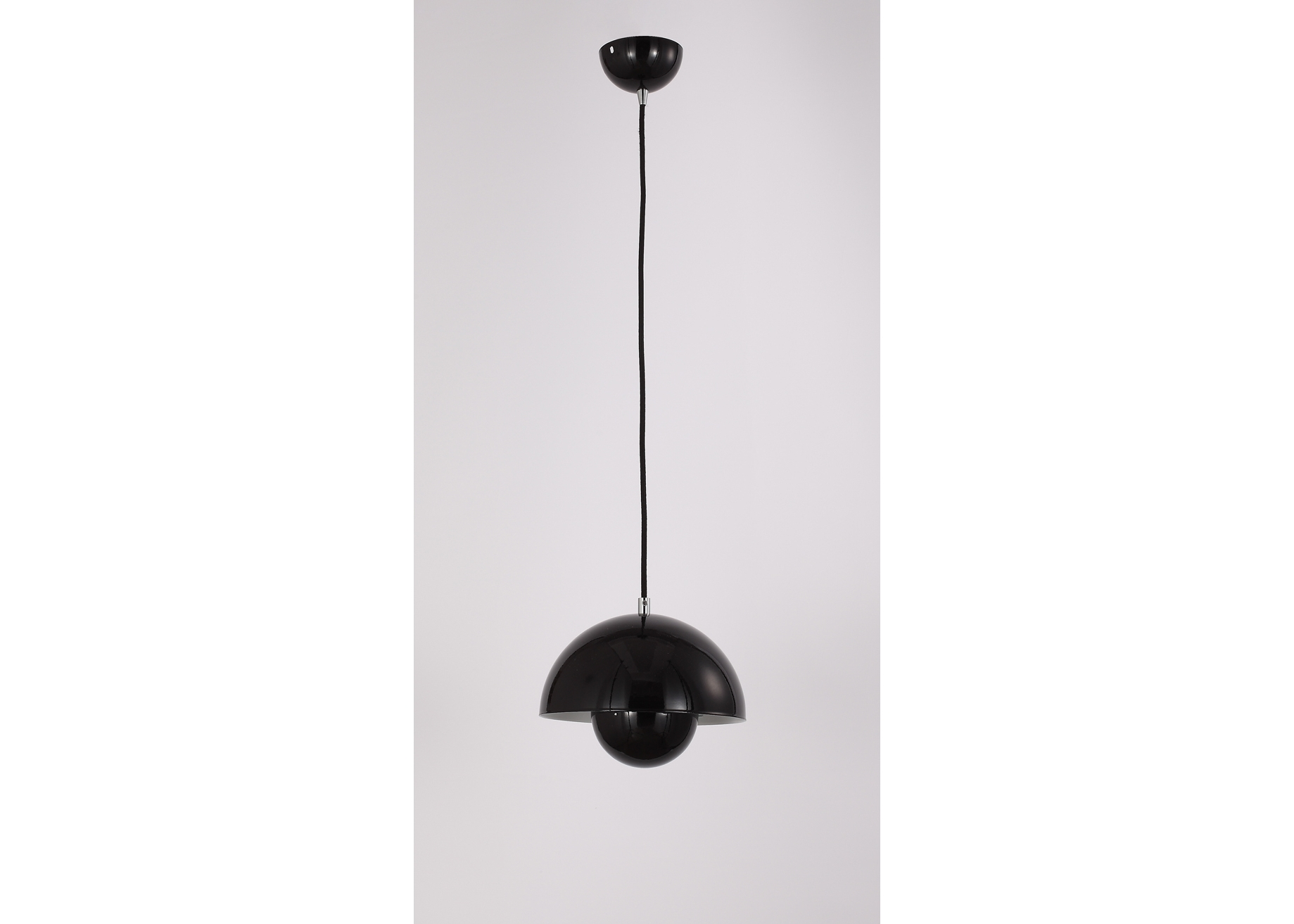 Подвесной светильник NarniПодвесные светильники<br>Материал: Металл<br>Design by Ketty Smith USA<br>Источник света: 1*60W (E27)<br>Особенности:<br>  а) Алюминий<br>  b) Цвет Black&amp;amp;nbsp;<br><br>Material: Металл<br>Height см: 50<br>Diameter см: 23