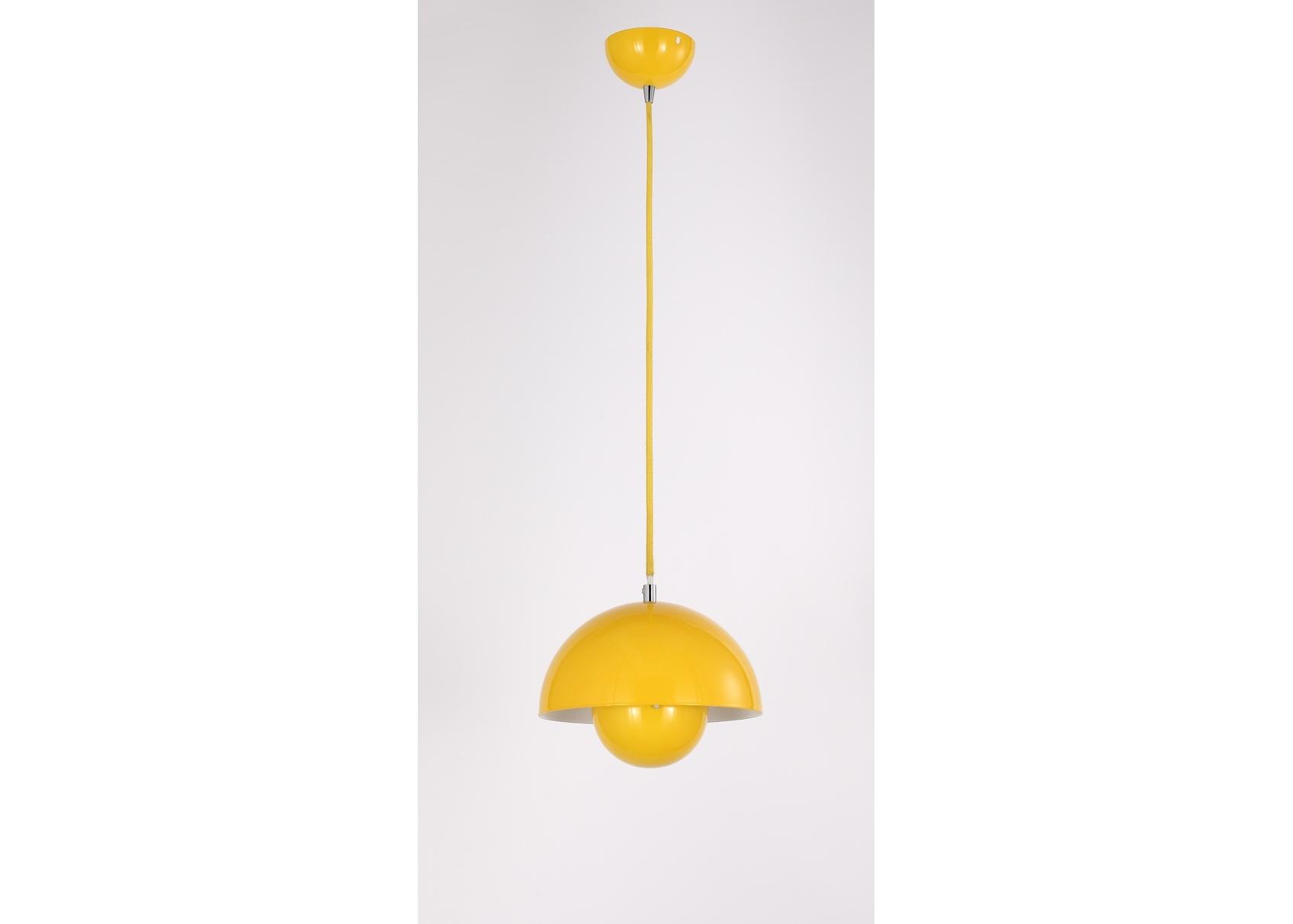 Подвесной светильник NarniПодвесные светильники<br>Материал: Металл<br>Design by Ketty Smith USA<br>Источник света: 1*60W (E27)<br>Особенности:<br>  а) Алюминий<br>  b) Цвет Yellow&amp;amp;nbsp;<br><br>Material: Металл<br>Высота см: 17.6