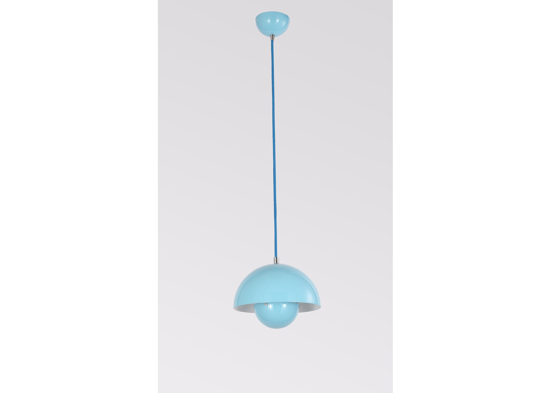 Подвесной светильник NarniПодвесные светильники<br>Материал: Металл<br>Design by Ketty Smith USA<br>Источник света: 1*60W (E27)<br>Особенности:<br>  а) Алюминий<br>  b) Цвет Blue&amp;amp;nbsp;<br><br>Material: Металл<br>Высота см: 17.6