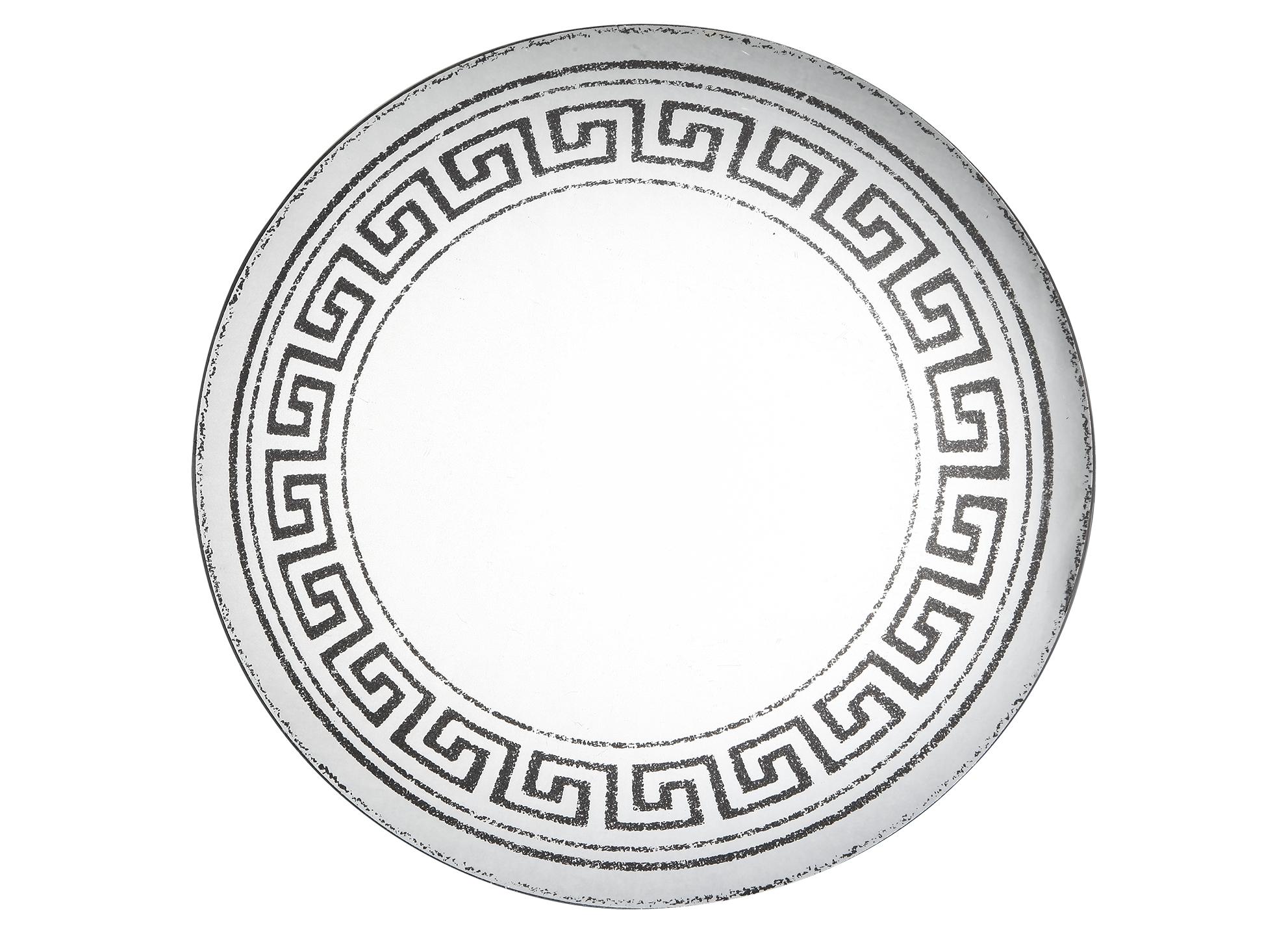 Зеркало настенноеНастенные зеркала<br>Зеркало настенное декоративное, патинированное &amp;quot;под старину&amp;quot;Рама деревянная, с греческим орнаментомМатериал - дерево, зеркало. Вес - 5.55 кг<br><br>Material: Дерево<br>Глубина см: 2