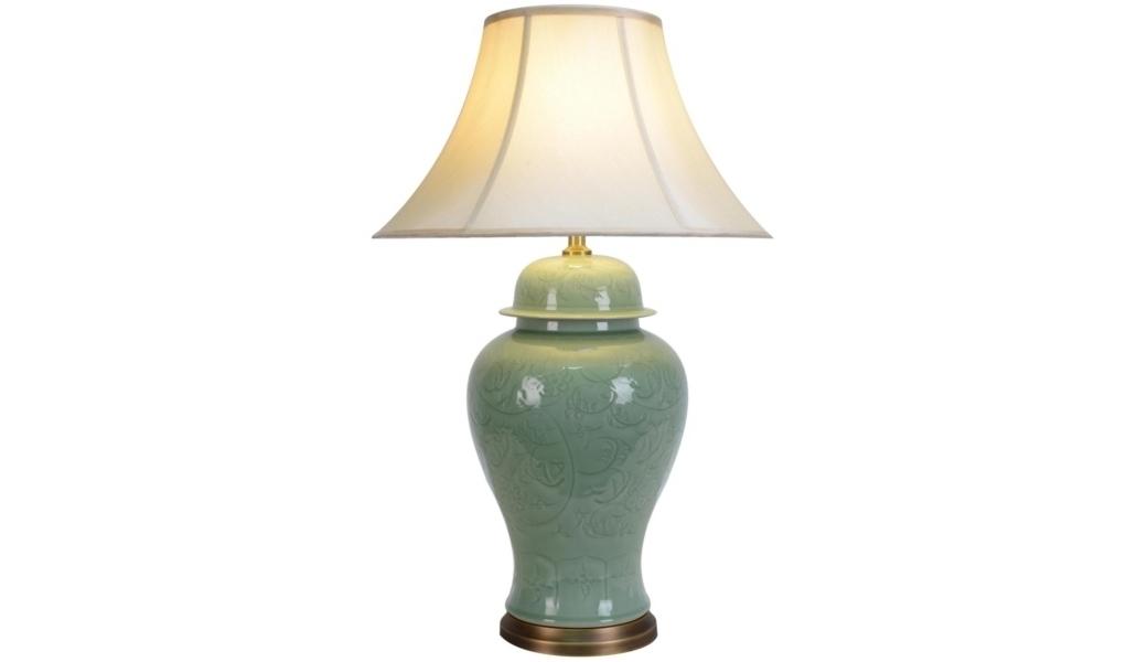 Настольная лампаДекоративные лампы<br>E27/50W/220-240V<br><br>Material: Керамика<br>Height см: 80<br>Diameter см: 51