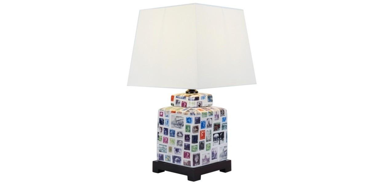 Лампа настольнаяДекоративные лампы<br>E27/50W/220-240V<br><br>Material: Керамика<br>Height см: 46<br>Diameter см: 24
