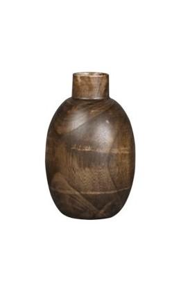 Ваза настольная Vase WoodВазы<br><br><br>Material: Дерево<br>Width см: None<br>Depth см: None<br>Height см: 25<br>Diameter см: 19