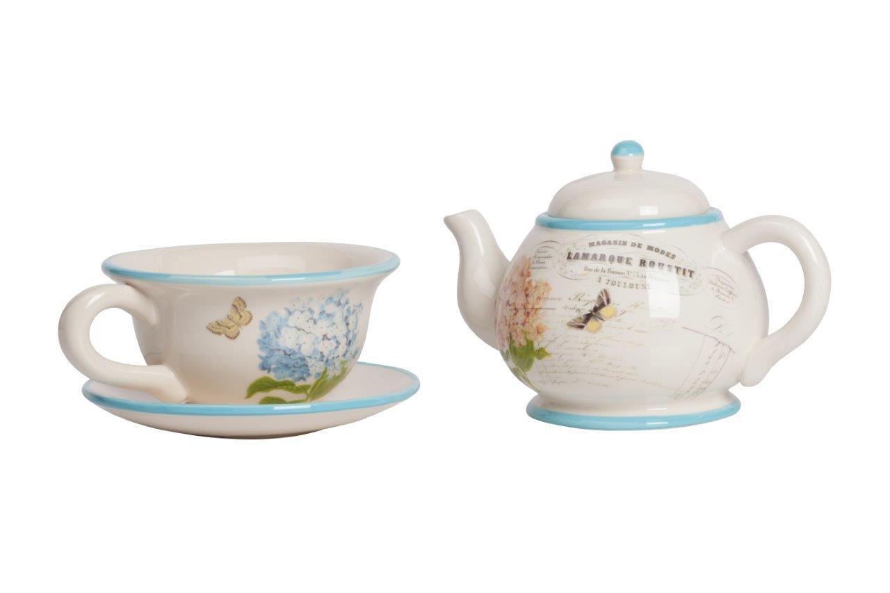 Чайный набор LamarqueЧайные сервизы<br>заварной чайник: 18*11*11, чашка: 15*11, 5 блюдце<br><br>Material: Керамика<br>Length см: 11<br>Width см: 11<br>Height см: 18