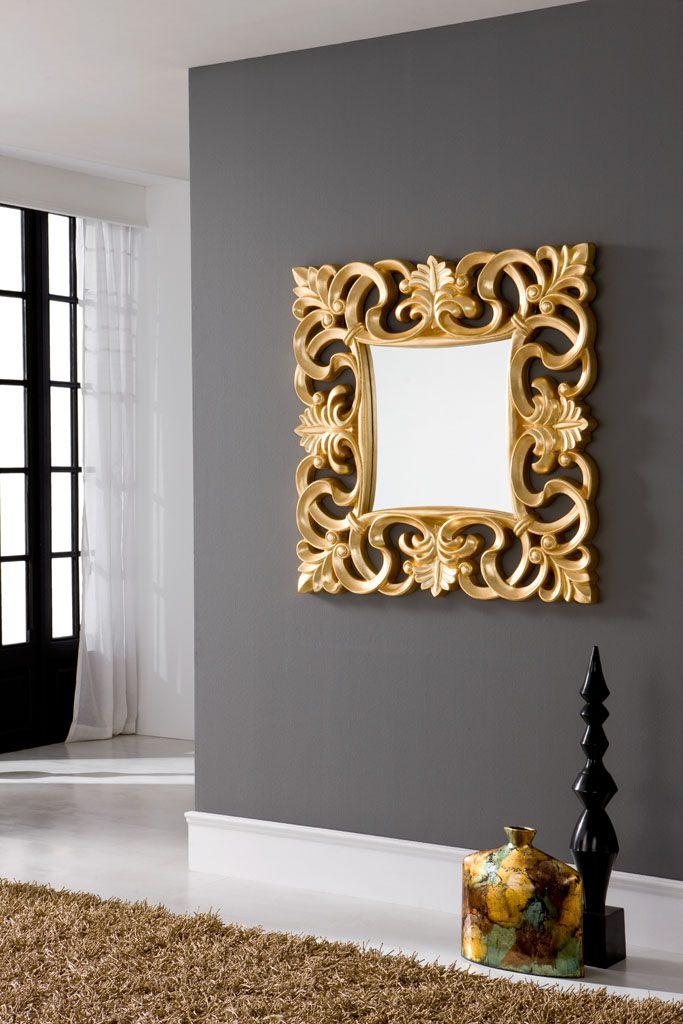 Зеркало PU021 золотоНастенные зеркала<br><br><br>Material: Пластик<br>Width см: 100<br>Depth см: 9<br>Height см: 100