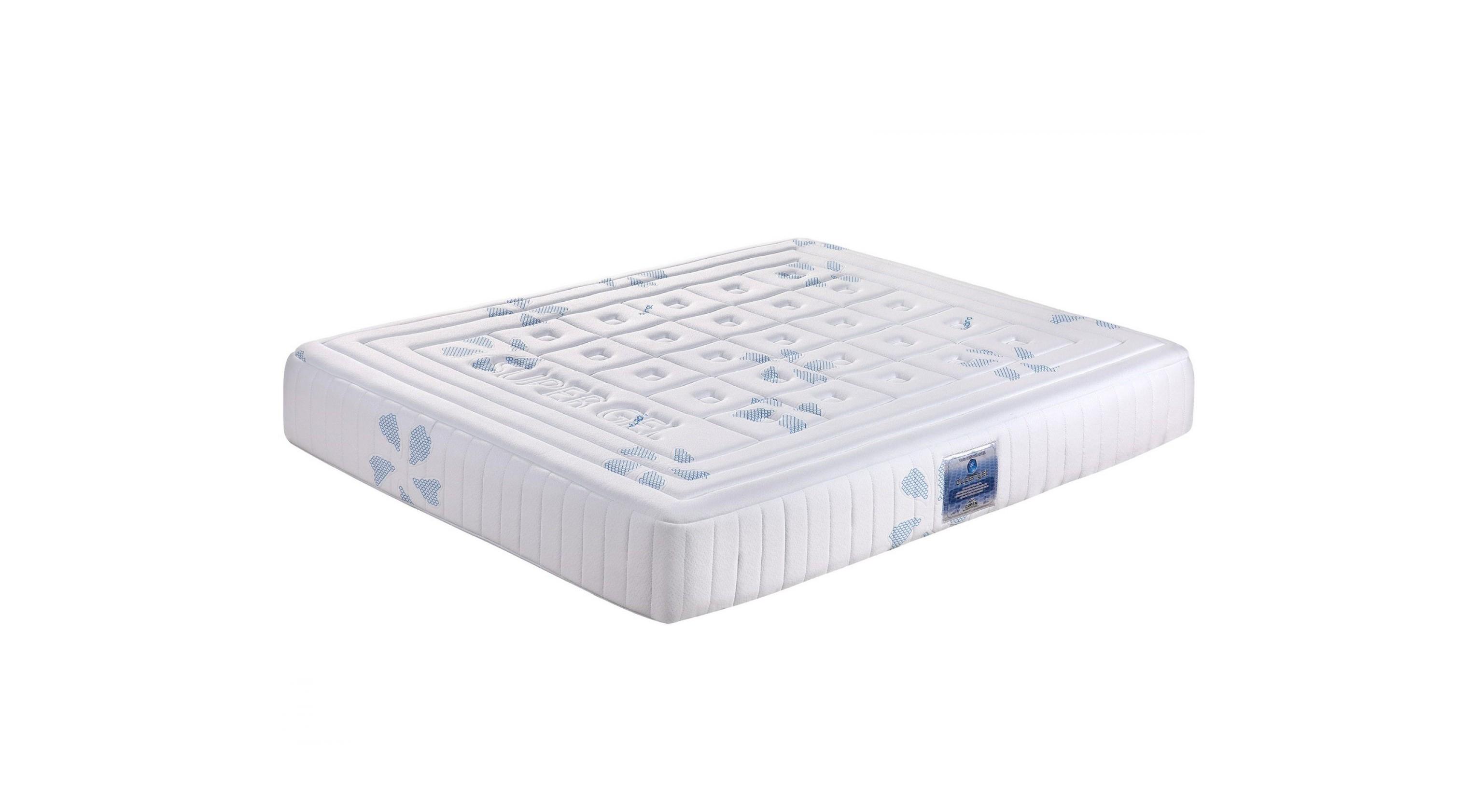 Матрас Dupen Super Gel (180*200)Беспружинные двуспальные матрасы<br>&amp;lt;div&amp;gt;Гель в ортопедическом матрасе обеспечивает охлаждающий эффект, уменьшая влажность кровати в целом. Он вентилирует и создает очень приятное чувство тепла по всей поверхности, где вы спите. Это помогает поддерживать равномерное распределение температуры тела. Он улучшает кровообращение, снимает точки давления тела, а также снимает боль в спине и шее. Матрас имеет специальную структуру в виде сот, с применением слоев с памятью и специальную эластичную обивку матраса. Гелевый ортопедический матрас с эффектом памяти широко используется в лечебной помощи в больницах по всему миру.&amp;amp;nbsp;&amp;lt;/div&amp;gt;&amp;lt;div&amp;gt;&amp;lt;br&amp;gt;&amp;lt;/div&amp;gt;&amp;lt;div&amp;gt;Технические подробности:&amp;amp;nbsp;&amp;lt;/div&amp;gt;&amp;lt;div&amp;gt;Высокое качество эластичной ткани&amp;amp;nbsp;&amp;lt;/div&amp;gt;&amp;lt;div&amp;gt;Эластичное покрытие, эффект антивлага, антиклещ&amp;amp;nbsp;&amp;lt;/div&amp;gt;&amp;lt;div&amp;gt;Слой геля и латекса с эффектом памяти (мемори форм)&amp;lt;/div&amp;gt;&amp;lt;div&amp;gt;Материал: Латекс, гель, memory foam, пенополиуретан.&amp;lt;/div&amp;gt;&amp;lt;div&amp;gt;&amp;lt;br&amp;gt;&amp;lt;/div&amp;gt;&amp;lt;div&amp;gt;Преимущества матраса:&amp;amp;nbsp;&amp;lt;/div&amp;gt;&amp;lt;div&amp;gt;Охлаждающий эффект&amp;amp;nbsp;&amp;lt;/div&amp;gt;&amp;lt;div&amp;gt;Равномерное распределение температуры тела&amp;amp;nbsp;&amp;lt;/div&amp;gt;&amp;lt;div&amp;gt;Улучшение кровообращения&amp;amp;nbsp;&amp;lt;/div&amp;gt;&amp;lt;div&amp;gt;Уменьшает давление в болевых точках тела&amp;amp;nbsp;&amp;lt;/div&amp;gt;&amp;lt;div&amp;gt;Больше не надо ворочаться чтобы заснуть&amp;amp;nbsp;&amp;lt;/div&amp;gt;&amp;lt;div&amp;gt;Снимает боль в спине и шее&amp;amp;nbsp;&amp;lt;/div&amp;gt;&amp;lt;div&amp;gt;Оптимальная поддержка спины и положения тела&amp;amp;nbsp;&amp;lt;/div&amp;gt;&amp;lt;div&amp;gt;Облегчение боли, вызванные артритом и ревма