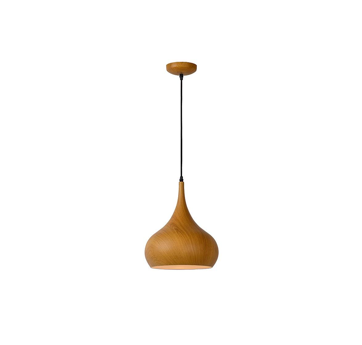 Подвесной светильник WOODYПодвесные светильники<br>основание: металл/принт дерева<br>плафон: металл/принт дерева<br>диаметр: 30 см<br>высота: 135 см<br>E27, 60W,1 лампочка (в комплект не входит)<br><br>Material: Металл<br>Height см: 135<br>Diameter см: 30