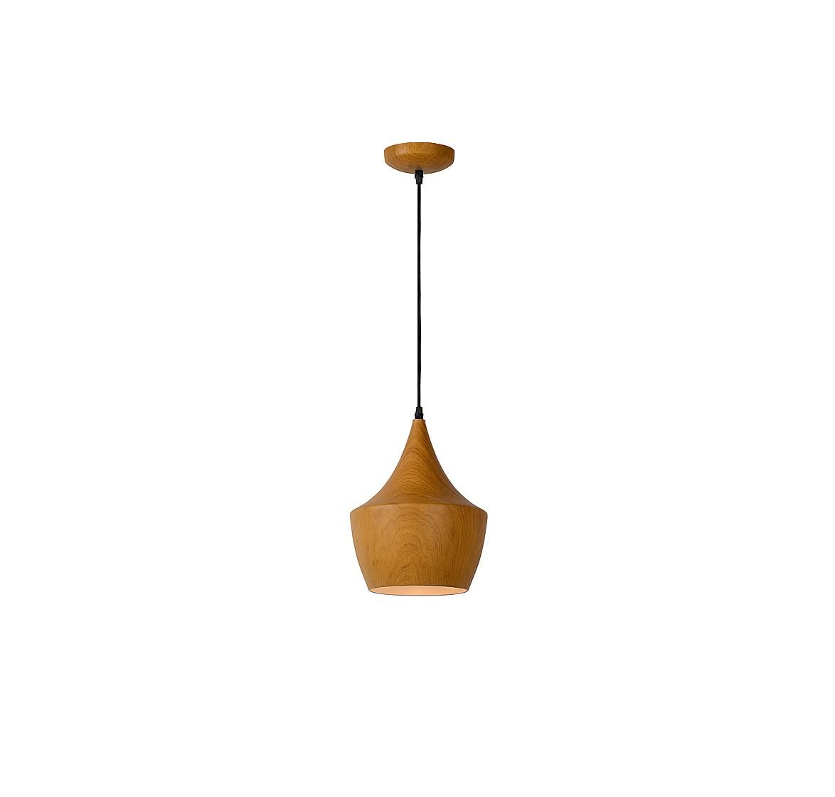 Подвесной светильник WOODYПодвесные светильники<br>основание: металл/принт дерева<br>плафон: металл/принт дерева<br>диаметр: 24 см<br>высота: 130 см<br>E27, 60W,1 лампочка (в комплект не входит)<br><br>Material: Металл<br>Height см: 130<br>Diameter см: 24