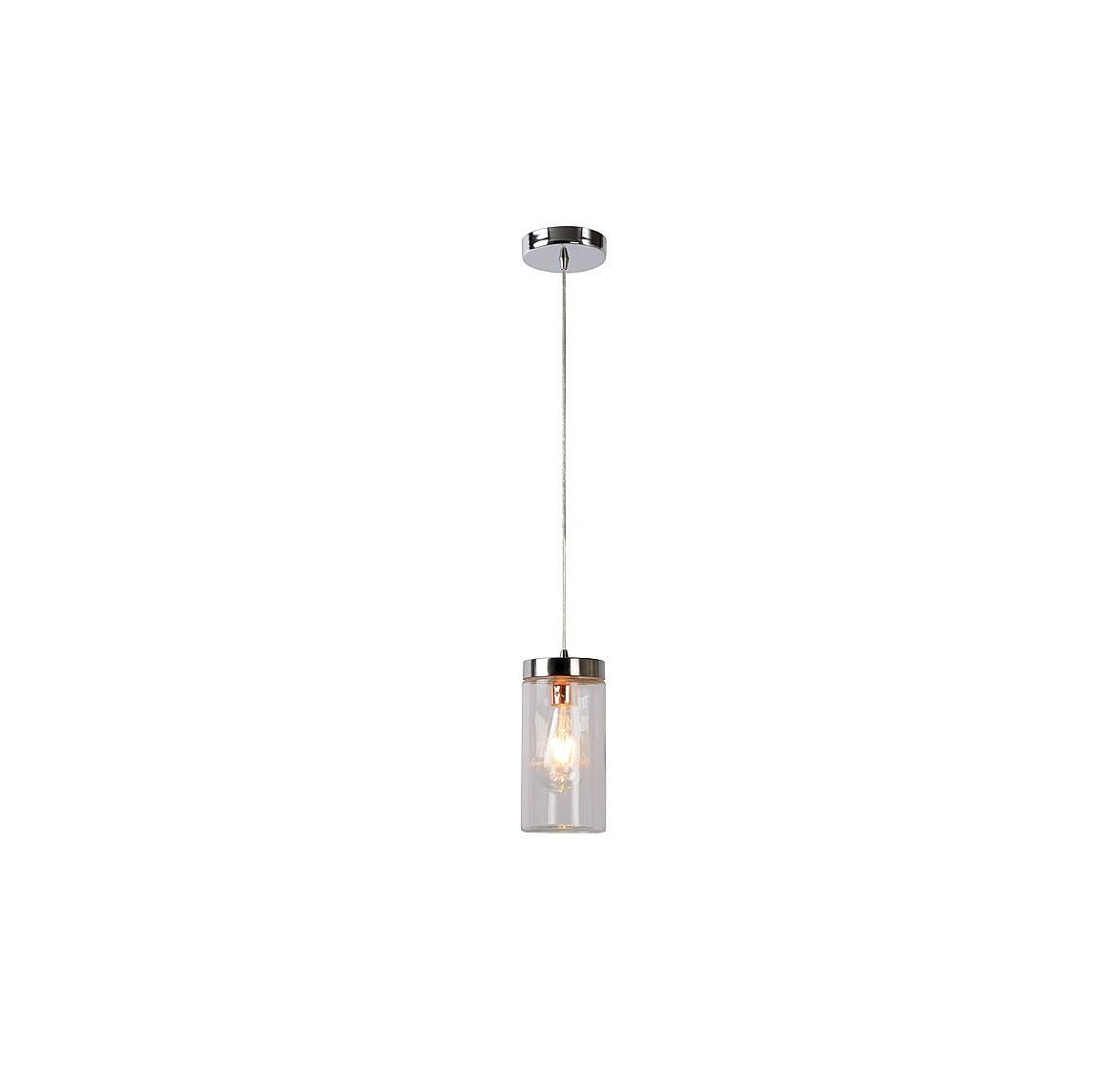 Подвесной светильник EPICEПодвесные светильники<br>основание: металл/хром<br>плафон: стекло<br>диаметр: 11 см<br>высота: 120 см<br>E27, 60W,1 лампочка (в комплект не входит)<br><br>Material: Стекло<br>Высота см: 120