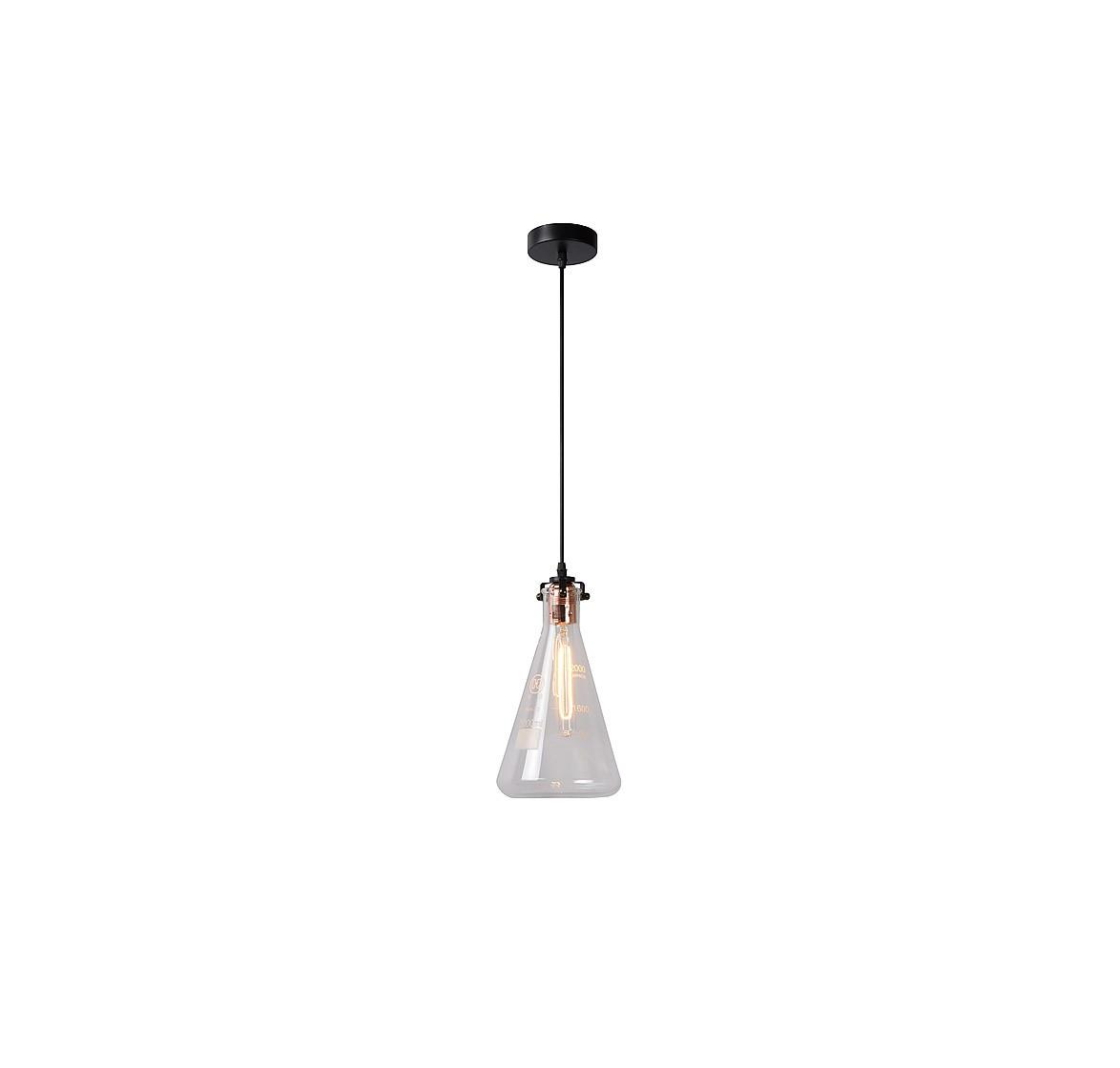 Подвесной светильник VITRIПодвесные светильники<br>основание: металл/черный<br>плафон: стекло<br>диаметр: 17 см<br>высота: 140 см<br>E27, 60W,1 лампочка (в комплект не входит)<br><br>Material: Стекло<br>Height см: 140<br>Diameter см: 17