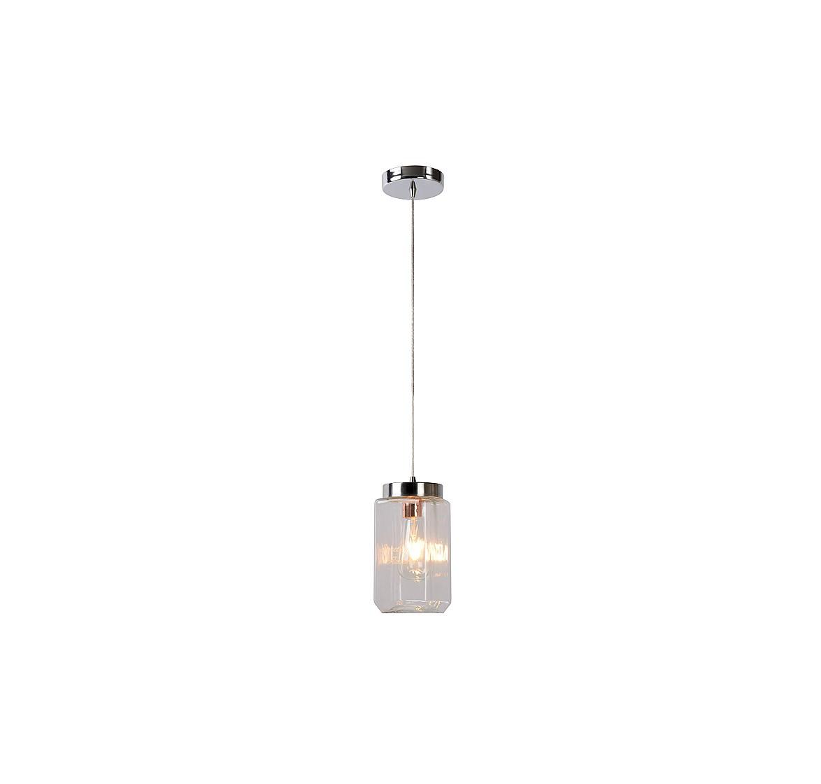 Подвесной светильник EPICEПодвесные светильники<br>основание: металл/хром<br>плафон: стекло<br>ширина: 11 см<br>высота: 140 см<br>длина: 11 см<br>E27, 60W,1 лампочка (в комплект не входит)<br><br>Material: Стекло<br>Высота см: 140