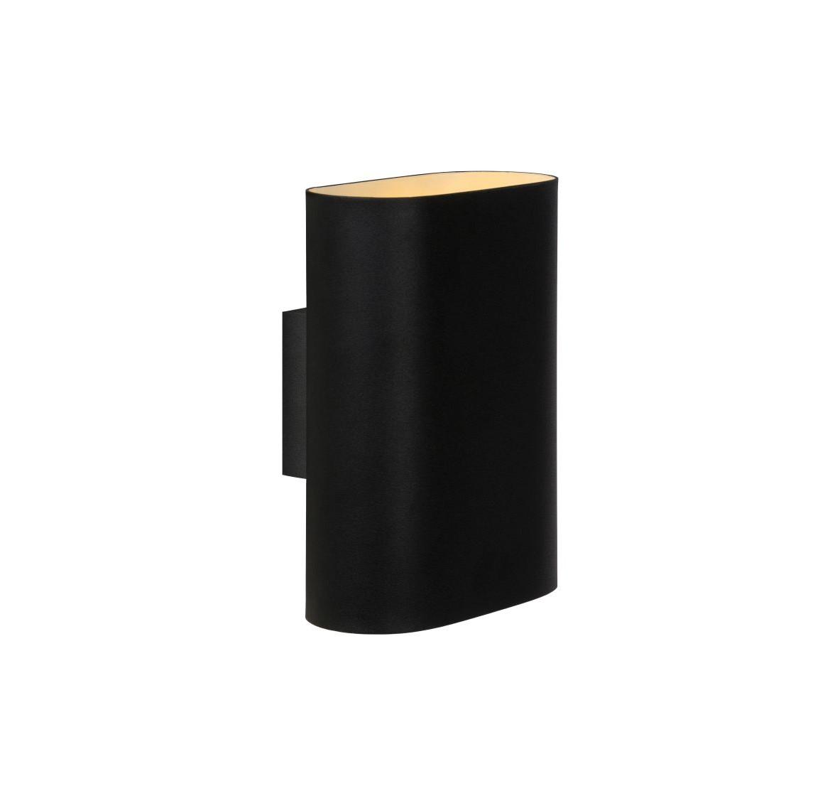 Настенный светильник OVALISБра<br>материл: металл/черный<br>ширина: 9 см<br>высота: 20 см<br>длина: 16 см<br>E14, 40W, 2 лампочки (в комплект не входит)<br><br>Material: Металл<br>Width см: 16<br>Depth см: 9<br>Height см: 20