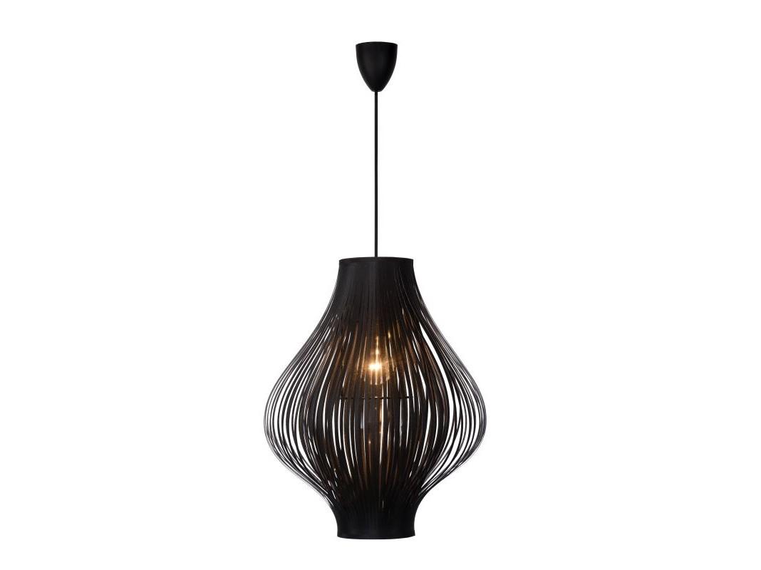 Подвесной светильник POLIПодвесные светильники<br>материал: PVC и полиэстер/ черный<br>диаметр: 36 см<br>высота: 125 см<br>Е27, 60W, 1 лампочка (в комплект не входит)<br><br>Material: Текстиль<br>Высота см: 125