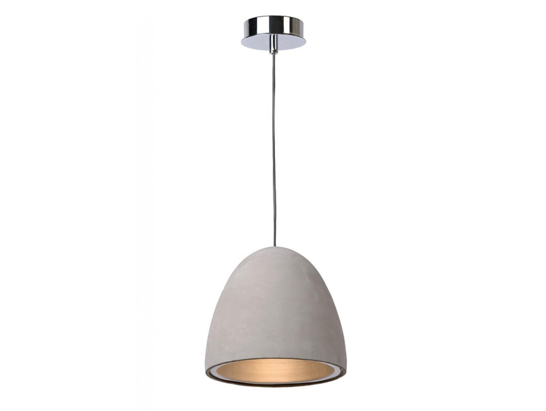 Подвесной светильник SOLOПодвесные светильники<br>основание: металл<br>плафон: бетон<br>диаметр: 21 см<br>высота: 120 см<br>Е27, ESL 15W, 1 лампочка (в комплект не входит)<br><br>Material: Металл<br>Высота см: 120.0
