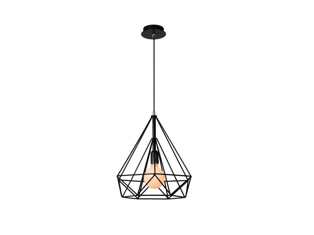 Подвесной светильник RICKYПодвесные светильники<br>основание: металл<br>плафон: железо/черный<br>диаметр: 37,5 см<br>высота: 120 см<br>Е27, 60W, 1 лампочка (в комплект не входит)<br><br>Material: Железо<br>Высота см: 120.0