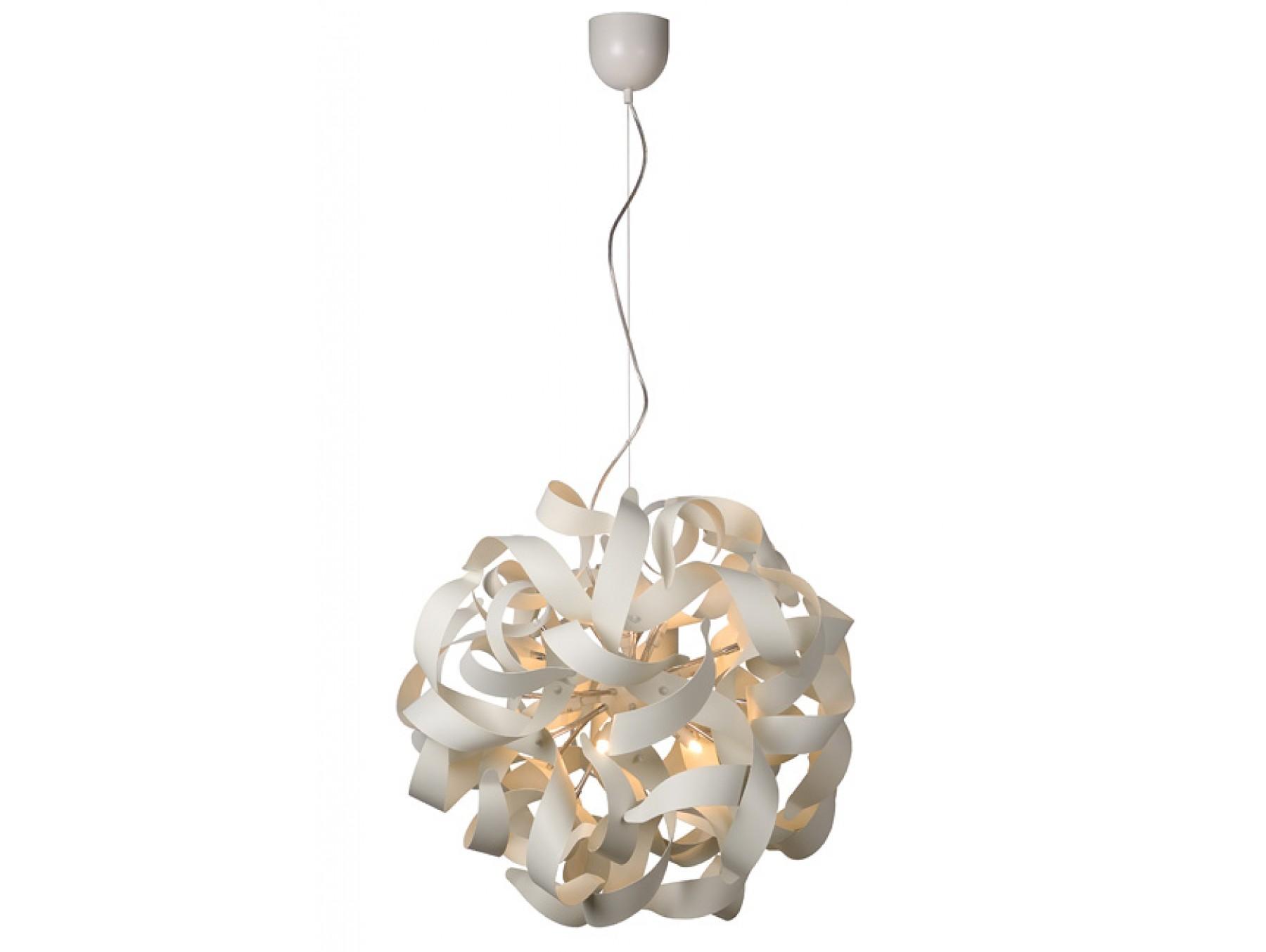 Подвесной светильник ATOMITAПодвесные светильники<br>основание: металл<br>плафон: металл/белый<br>диаметр: 65 см<br>высота: 130 см<br>G9, 33W, 12 лампочек (в комплекте)<br><br>Material: Металл<br>Высота см: 130