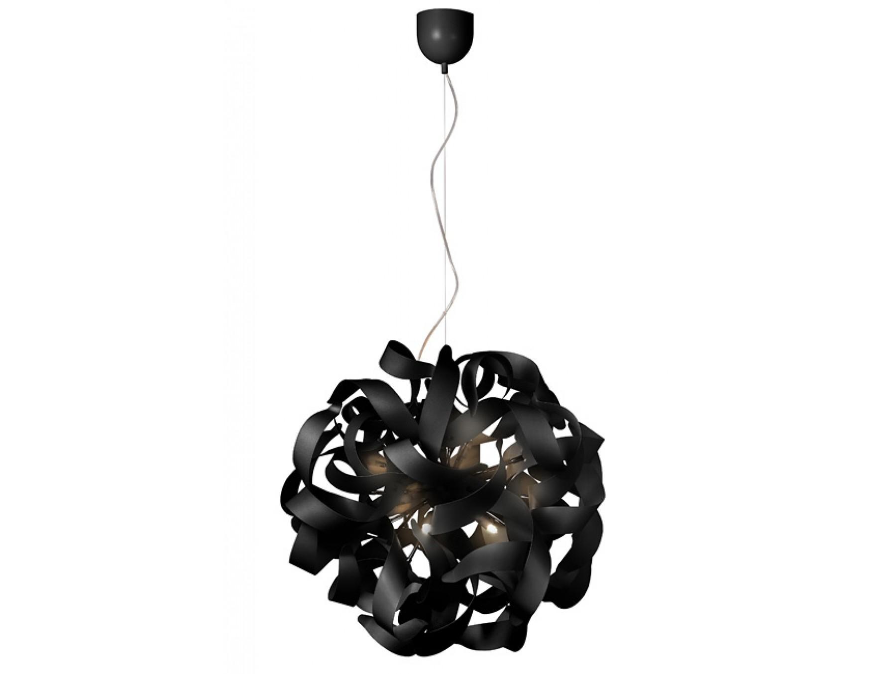 Подвесной светильник ATOMITAПодвесные светильники<br>основание: металл<br>плафон: металл/черный<br>диаметр: 65 см<br>высота: 130 см<br>G9, 33W, 12 лампочек (в комплекте)<br><br>Material: Металл<br>Height см: 130<br>Diameter см: 65