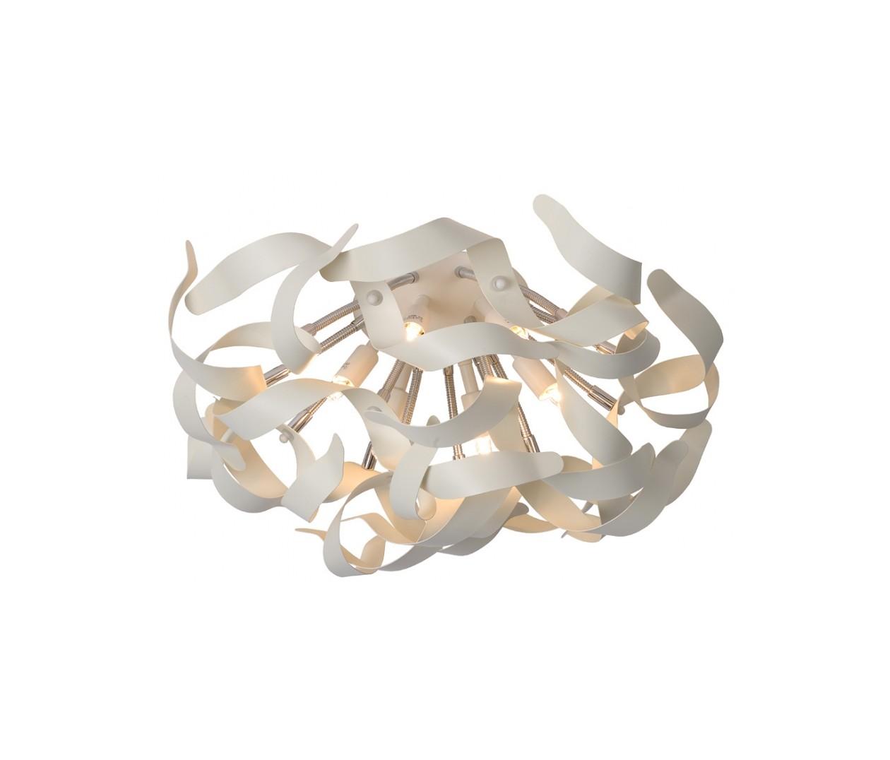 Потолочный светильник ATOMAПотолочные светильники<br>основание: металл<br>плафон: металл/белый<br>диаметр: 50 см<br>высота: 35 см<br>G9, 33W, 6 лампочек (в комплекте)<br><br>Material: Металл<br>Height см: 35<br>Diameter см: 50