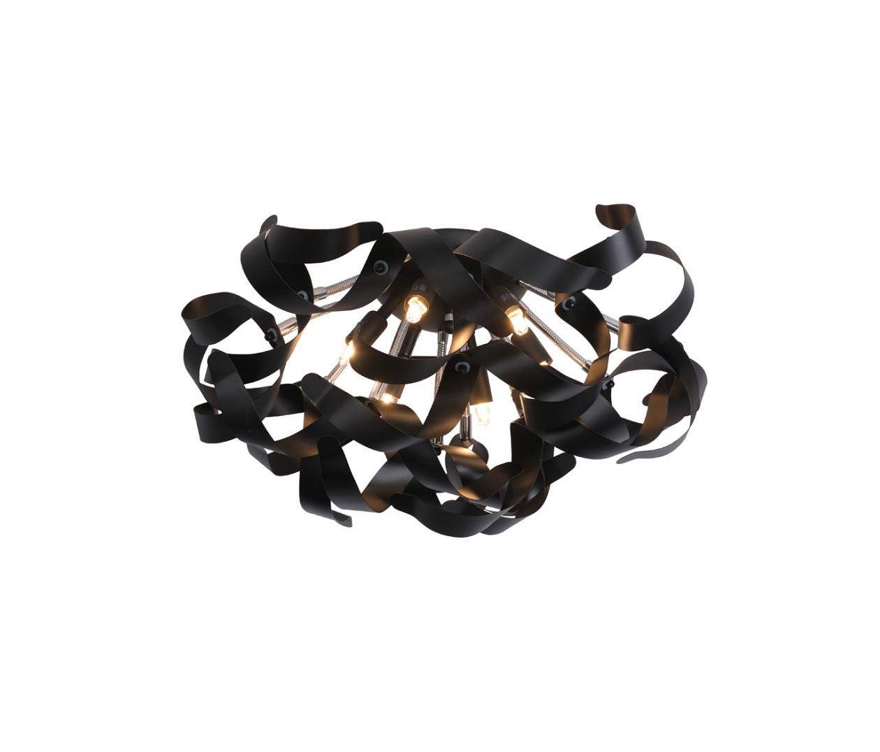 Потолочный светильник ATOMAПотолочные светильники<br>основание: металл<br>плафон: металл/черный<br>диаметр: 50 см<br>высота: 35 см<br>G9, 33W, 6 лампочек (в комплекте)<br><br>Material: Металл<br>Высота см: 35