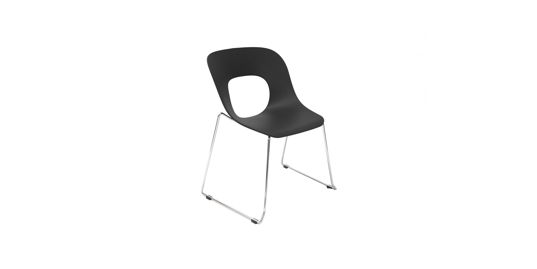 Стул HOLE-05 черныйОбеденные стулья<br><br><br>Material: Пластик<br>Ширина см: 63<br>Высота см: 82<br>Глубина см: 56
