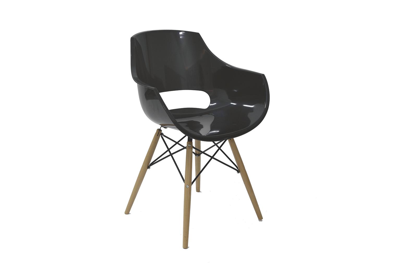Стул PW-022 черныйОбеденные стулья<br>Материал: Пластик, дерево<br><br>Material: Пластик<br>Ширина см: 63<br>Высота см: 83<br>Глубина см: 54