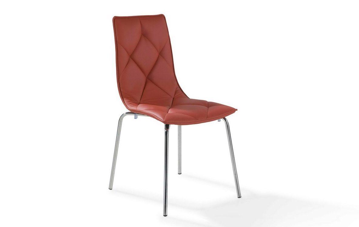 Стул DC392 красныйОбеденные стулья<br><br><br>Material: Кожа<br>Width см: 47<br>Depth см: 59<br>Height см: 88