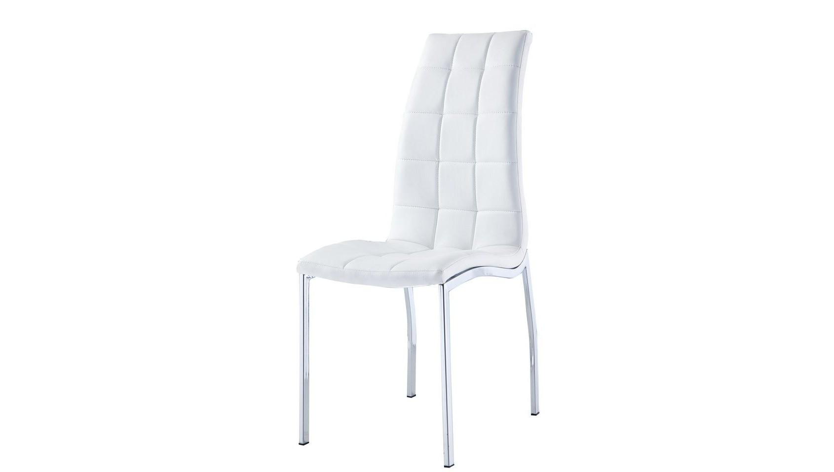 Стул DC365 белыйОбеденные стулья<br><br><br>Material: Кожа<br>Ширина см: 43<br>Высота см: 105<br>Глубина см: 58
