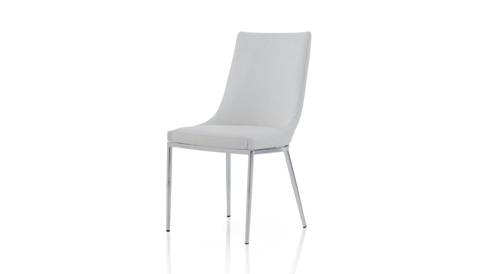 Стул Y-217 белыйОбеденные стулья<br><br><br>Material: Кожа<br>Length см: None<br>Width см: 55<br>Depth см: 47<br>Height см: 86<br>Diameter см: None