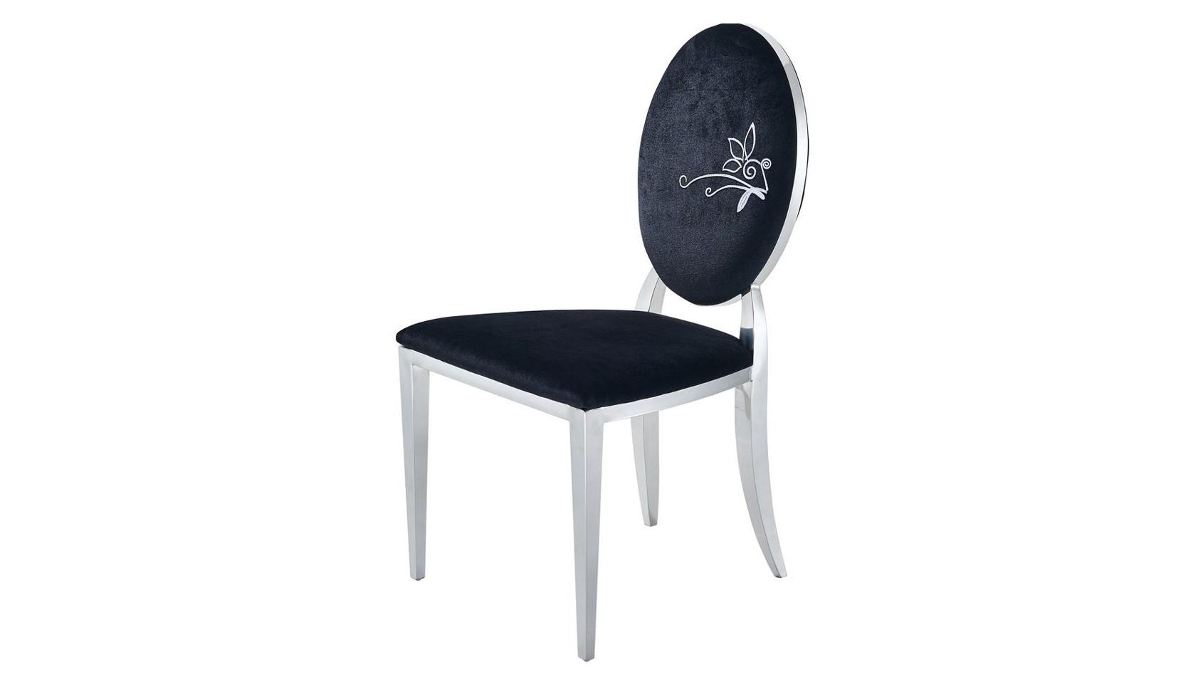 Стул Y110Обеденные стулья<br>Материал: Ткань, хром<br><br>Material: Текстиль<br>Width см: 50<br>Depth см: 48<br>Height см: 93
