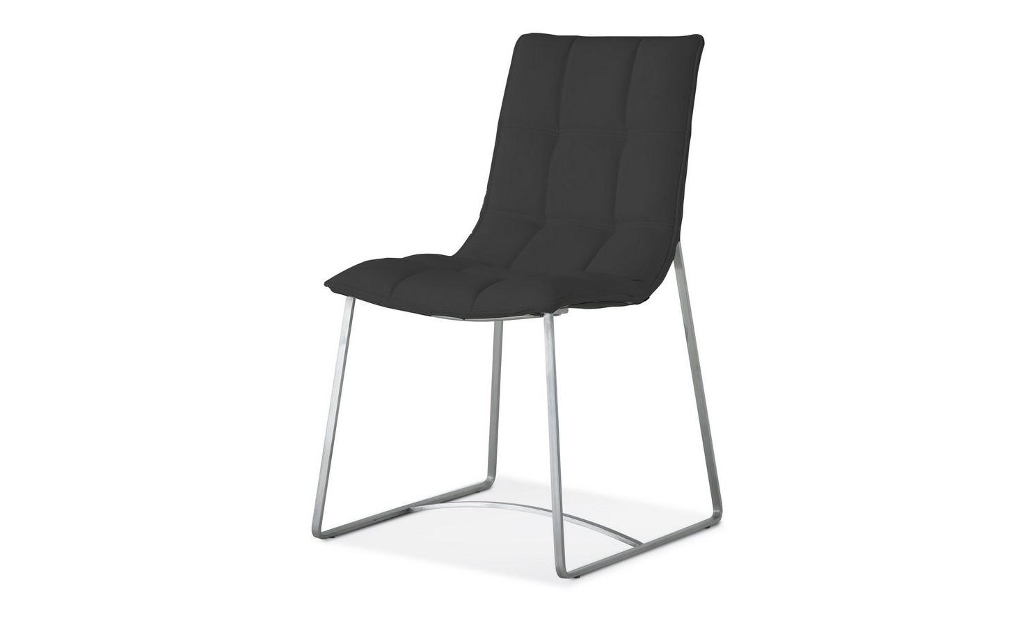 Стул BZ-500S черныйОбеденные стулья<br><br><br>Material: Кожа<br>Width см: 47<br>Depth см: 59<br>Height см: 87