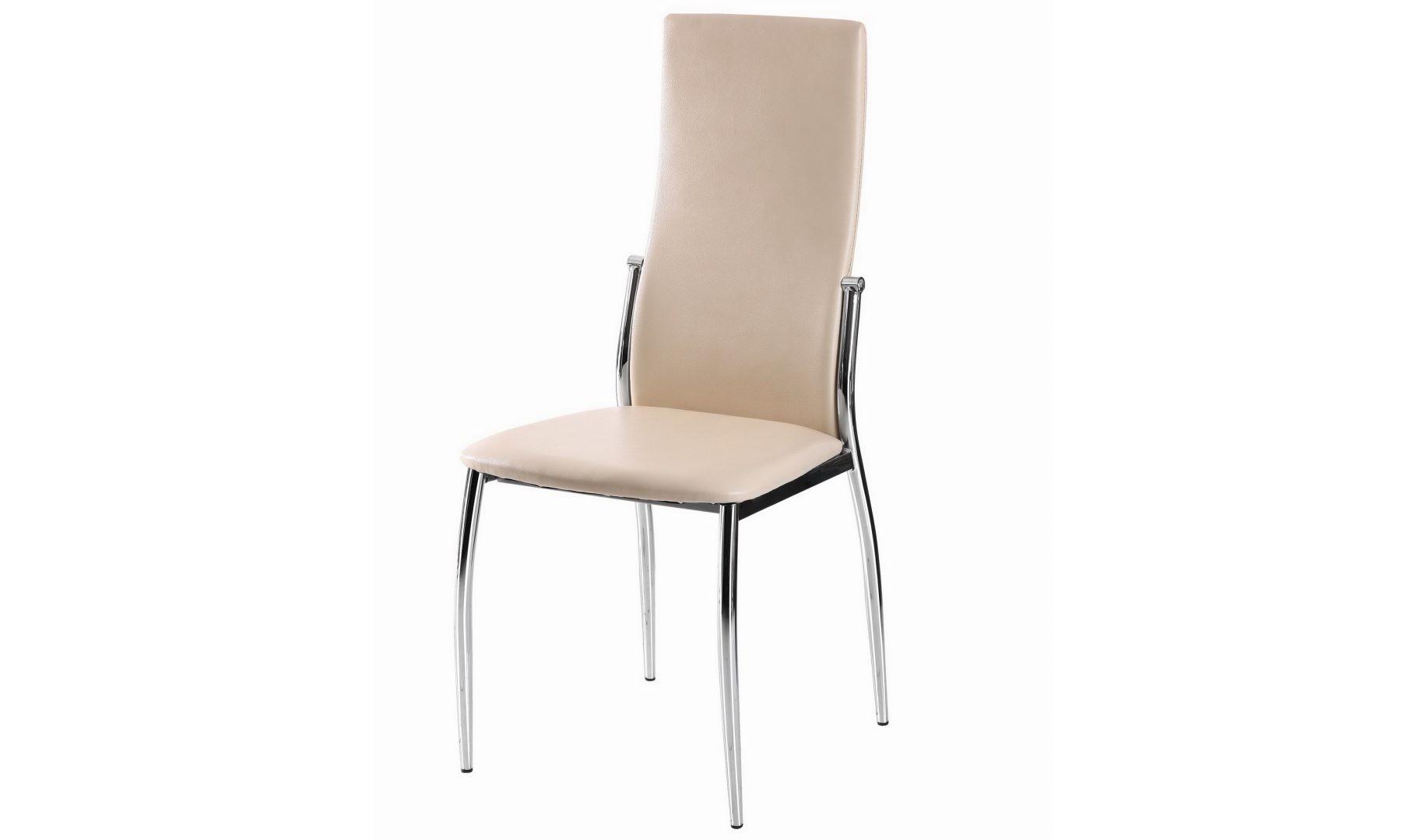 Стул 2368 (бежевый)Обеденные стулья<br><br><br>Material: Кожа<br>Ширина см: 45<br>Высота см: 100<br>Глубина см: 51