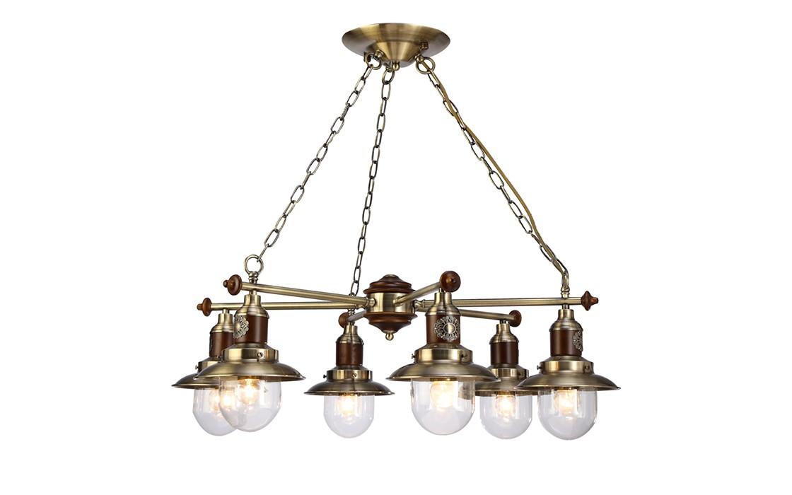 Подвесная люстраЛюстры подвесные<br>Цоколь: E27 Мощность: 6х60W<br><br>Material: Металл<br>Width см: 72<br>Depth см: 72<br>Height см: 25