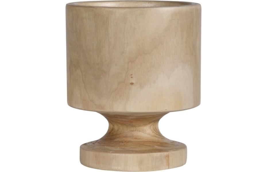 Ваза настольная Vase WoodВазы<br><br><br>Material: Дерево<br>Height см: 21<br>Diameter см: 17