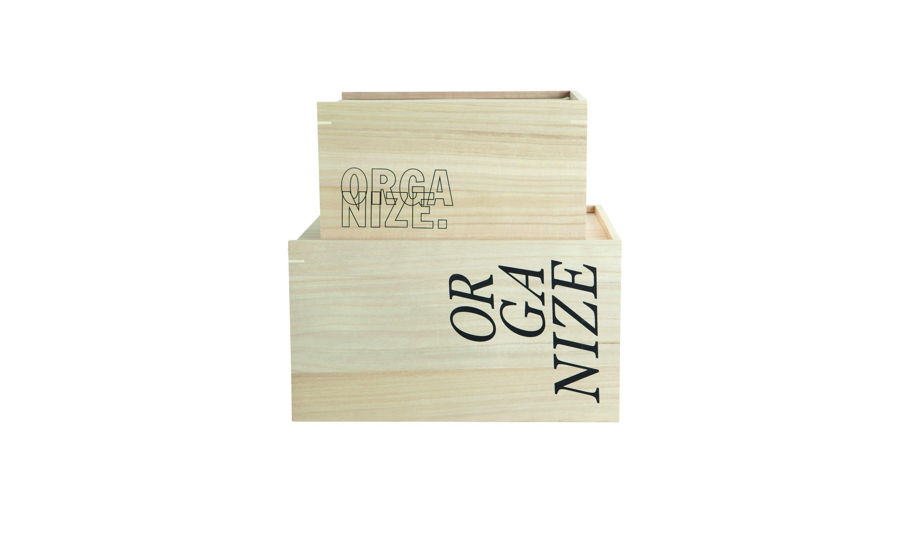Набор коробок для хранения OrganizeКоробки<br>Изготовлено из дерева павлонии.<br><br>Material: Дерево<br>Width см: 35<br>Depth см: 18<br>Height см: 25