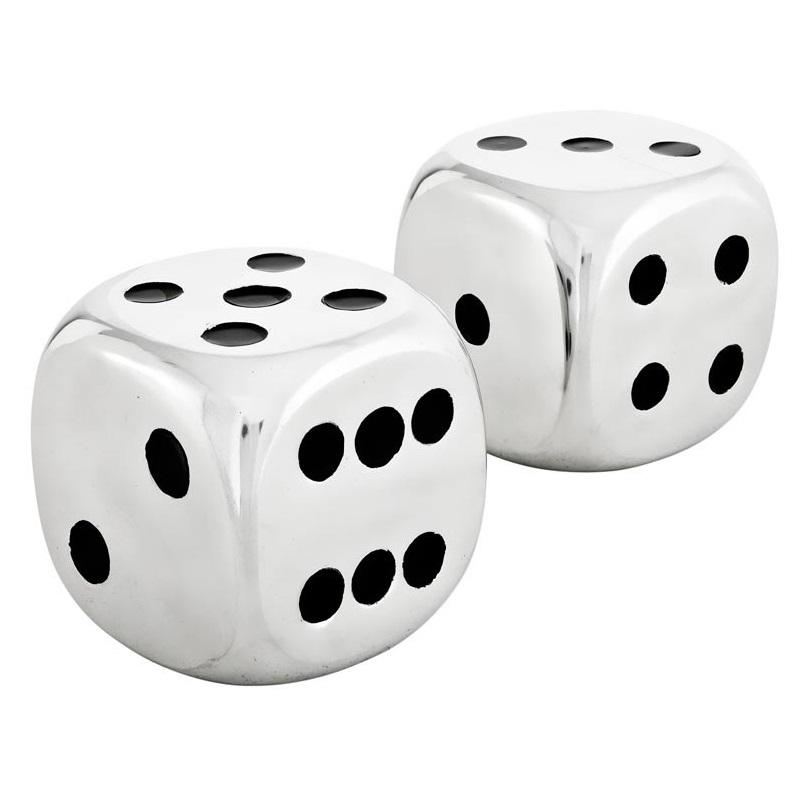 Большие игральные кости Desk Accessory DiceДругое<br>Настольный аксессуар Desk Accessory Dice в виде двух игральных кубиков. Выполнен из полированного алюминия .<br><br>Material: Металл<br>Ширина см: 11.0<br>Высота см: 11.0<br>Глубина см: 11.0